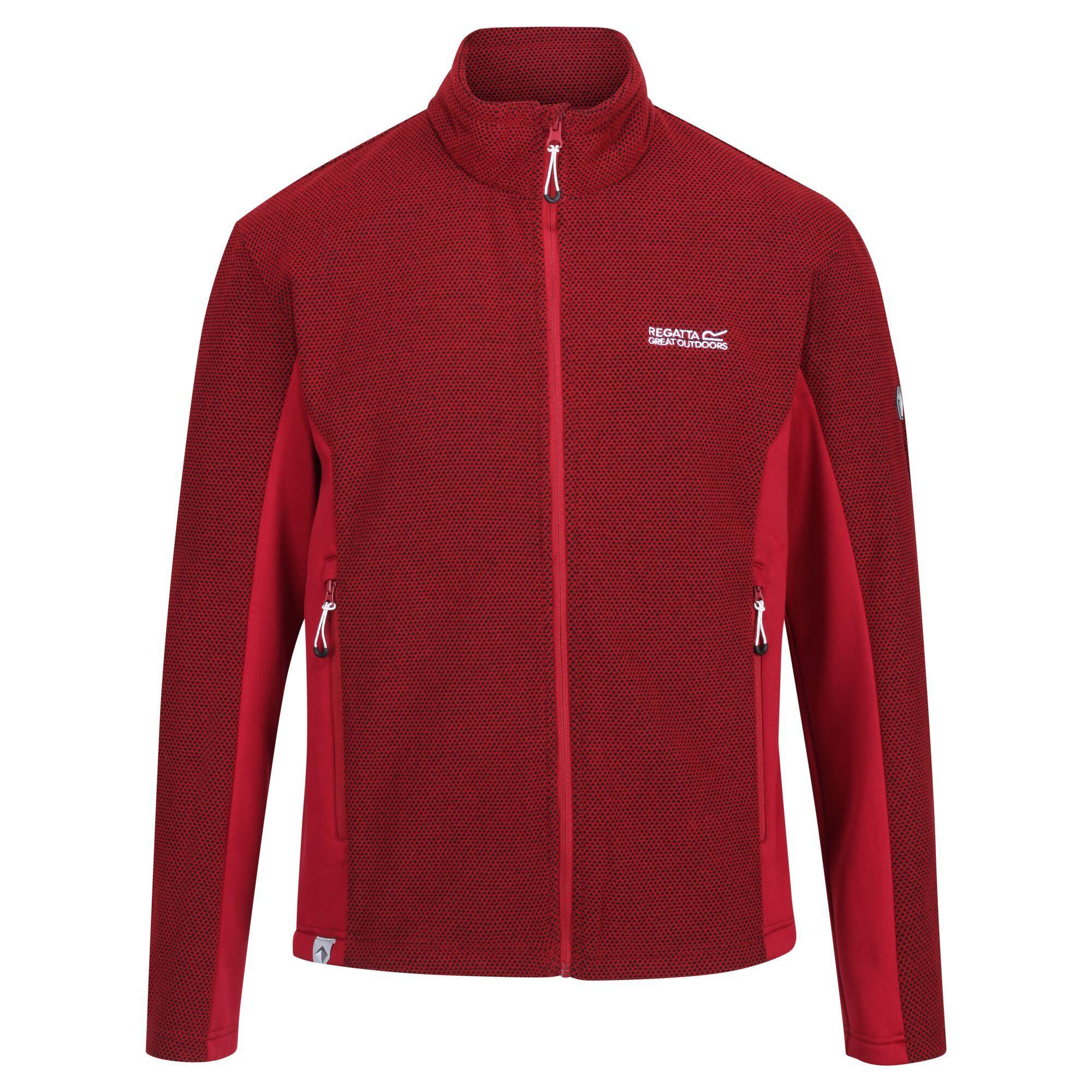 Regatta Mens Highton Two Tone Winter Fleece Jacket (Delhi Red)