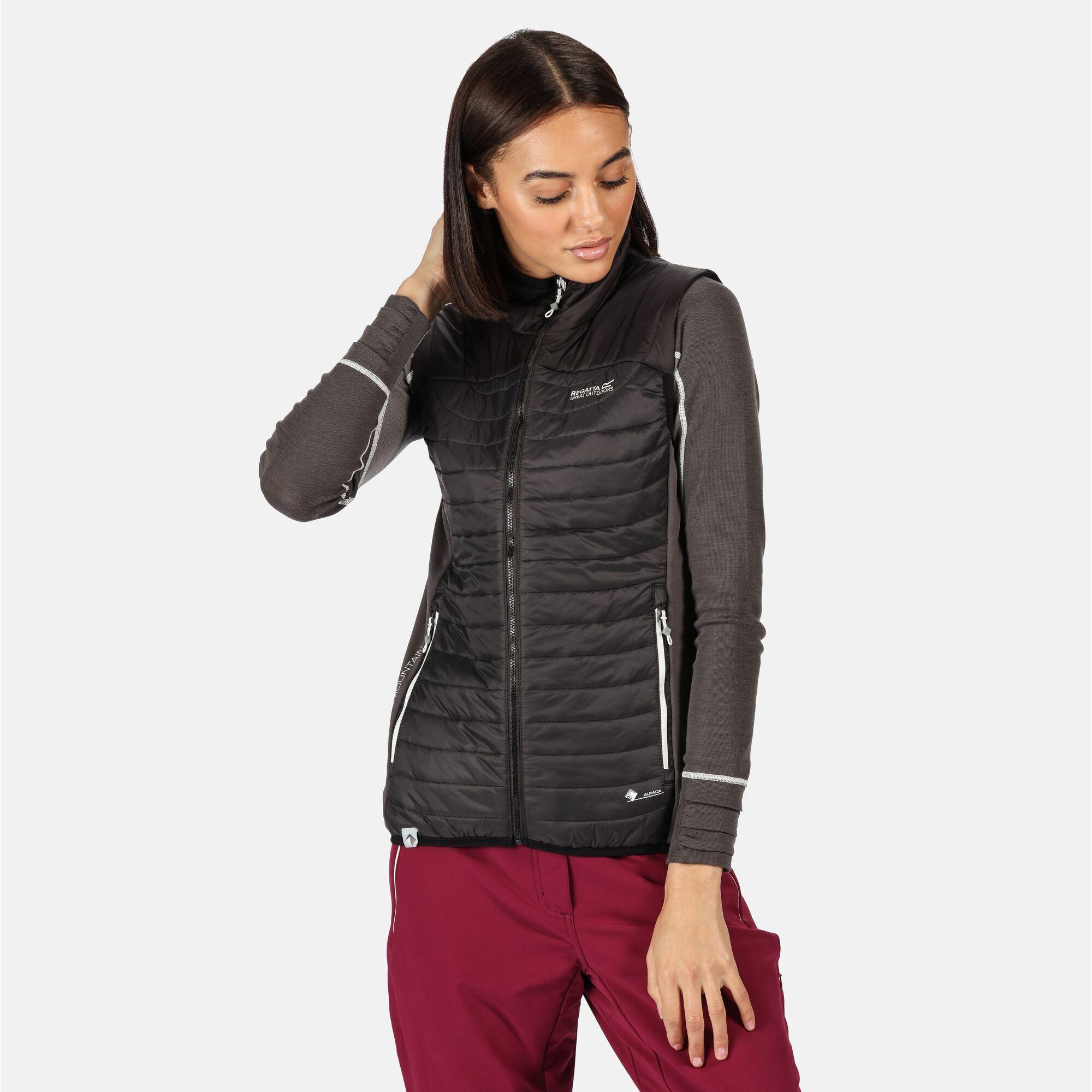 Regatta Womens/Ladies Halton III Hybrid Insulated Walking Body Warmer (Ash/Black)