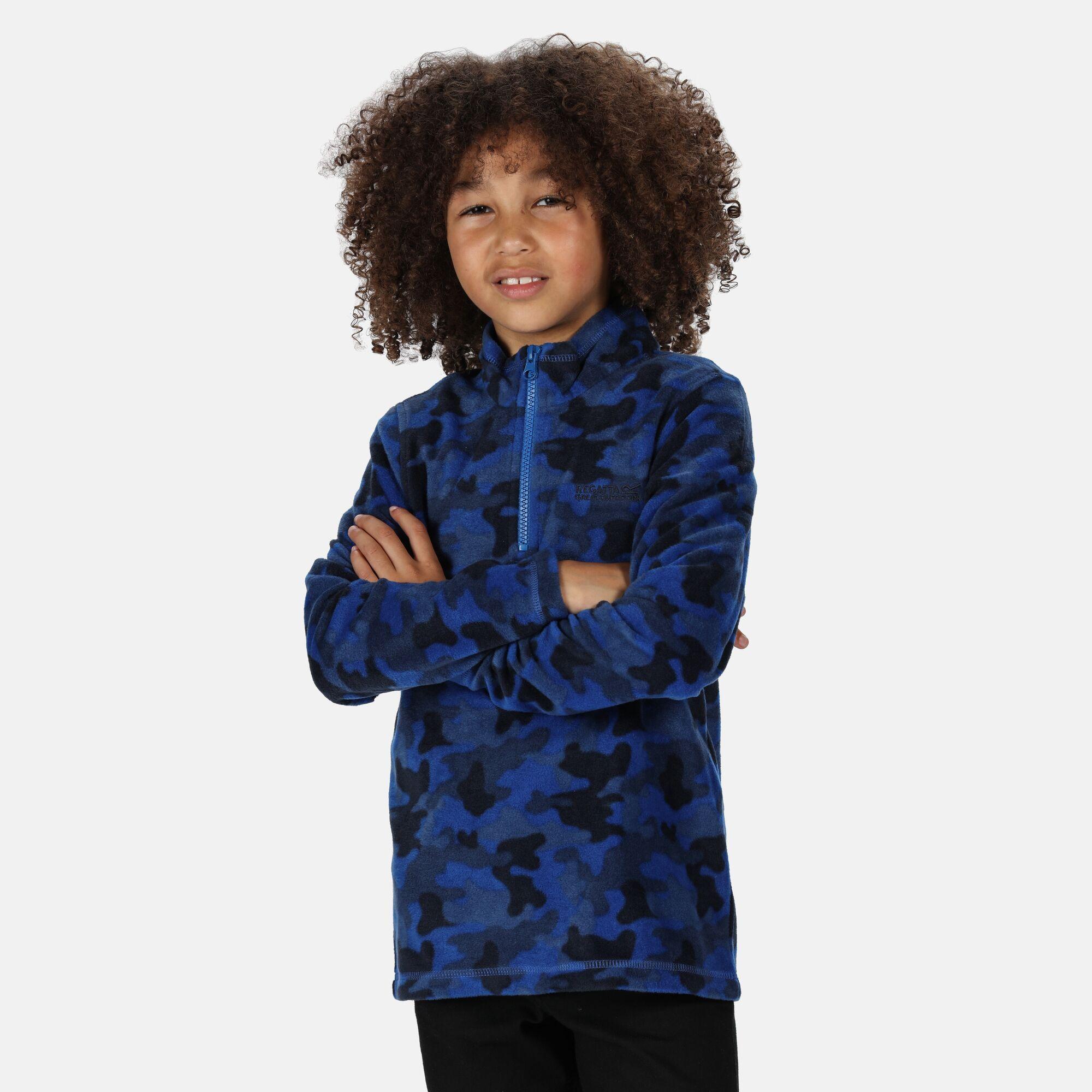 Regatta Great Outdoors Kids Outdoor Classics Lovely Jubblie Fleece Top (Nautical Blue/Camo)