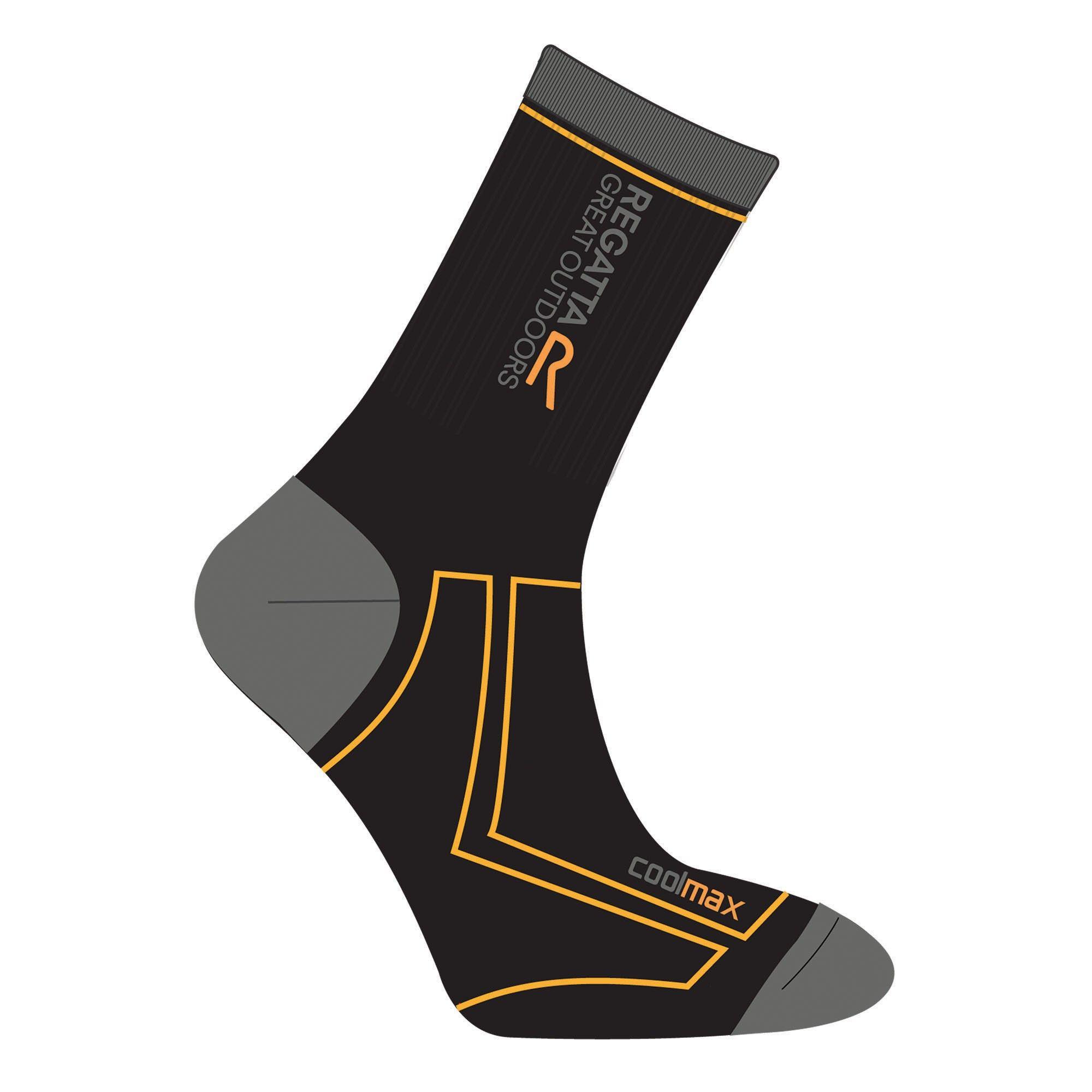 Regatta Great Outdoors Mens 2 Season Coolmax Trek & Trail Walking Socks