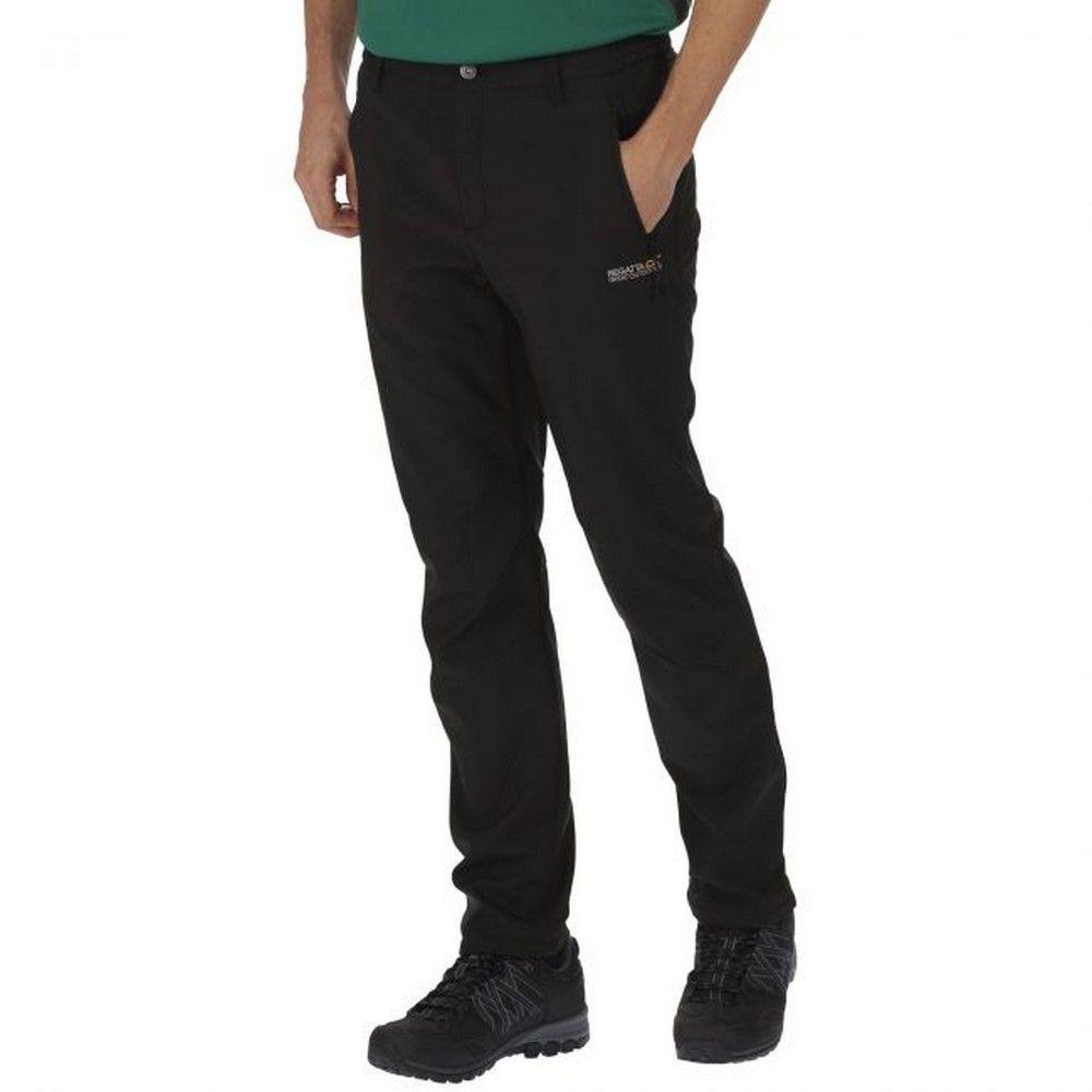Regatta Great Outdoors Mens Adventure Tech Geo II Wind Resistant Regular Leg Softshell Trousers