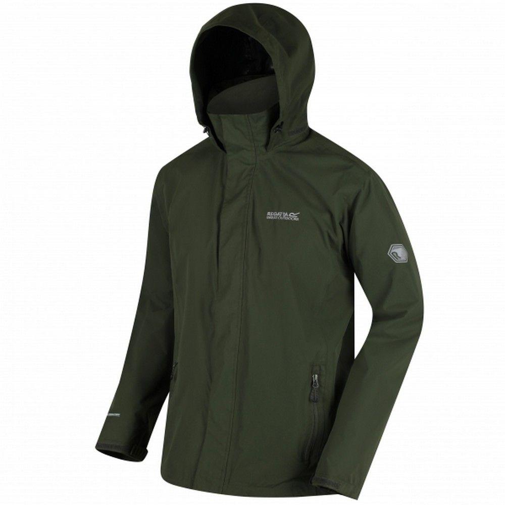 Regatta Great Outdoors Mens Outdoor Classic Matt Hooded Waterproof Jacket