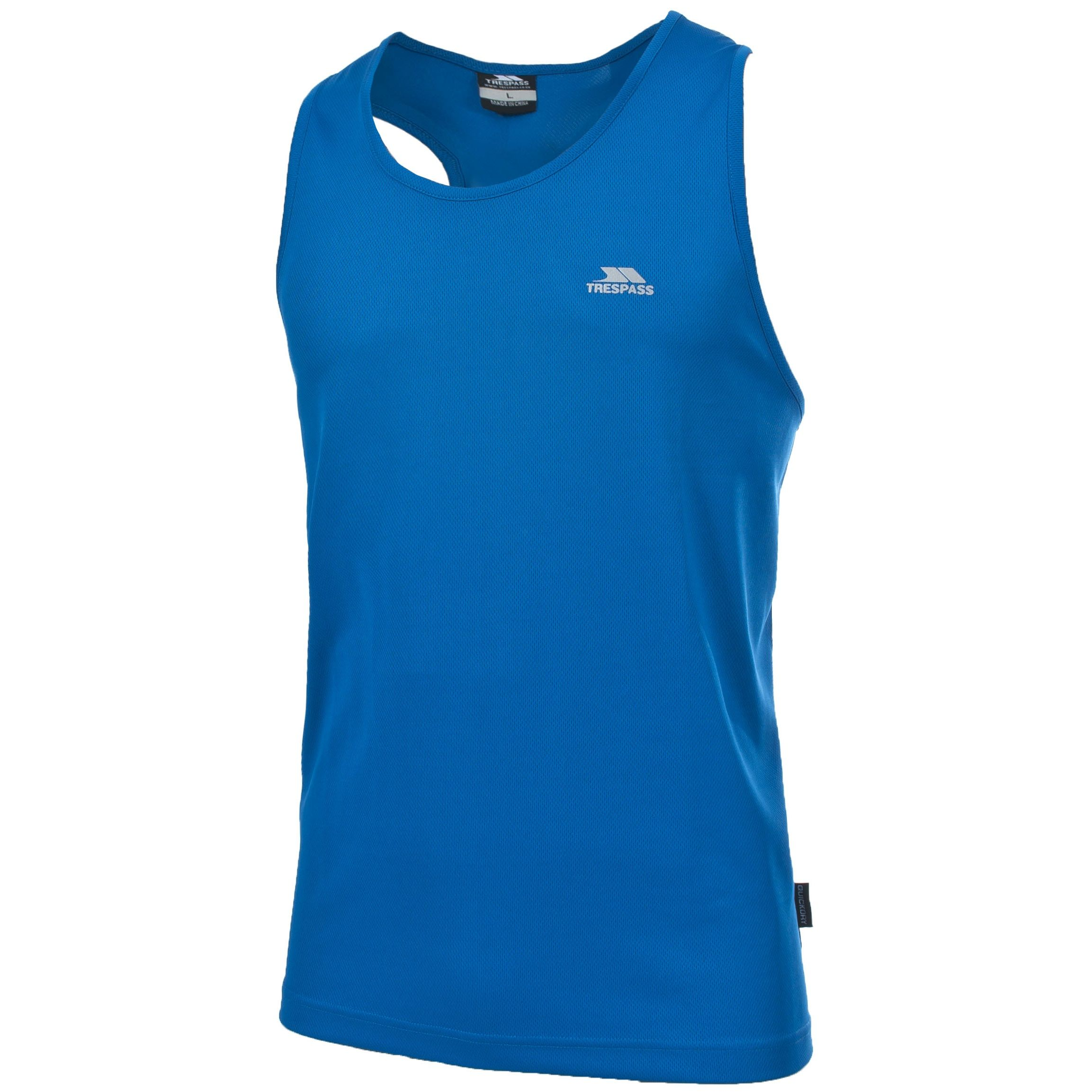 Trespass Mens Dario Sleeveless Vest Top (Electric Blue)