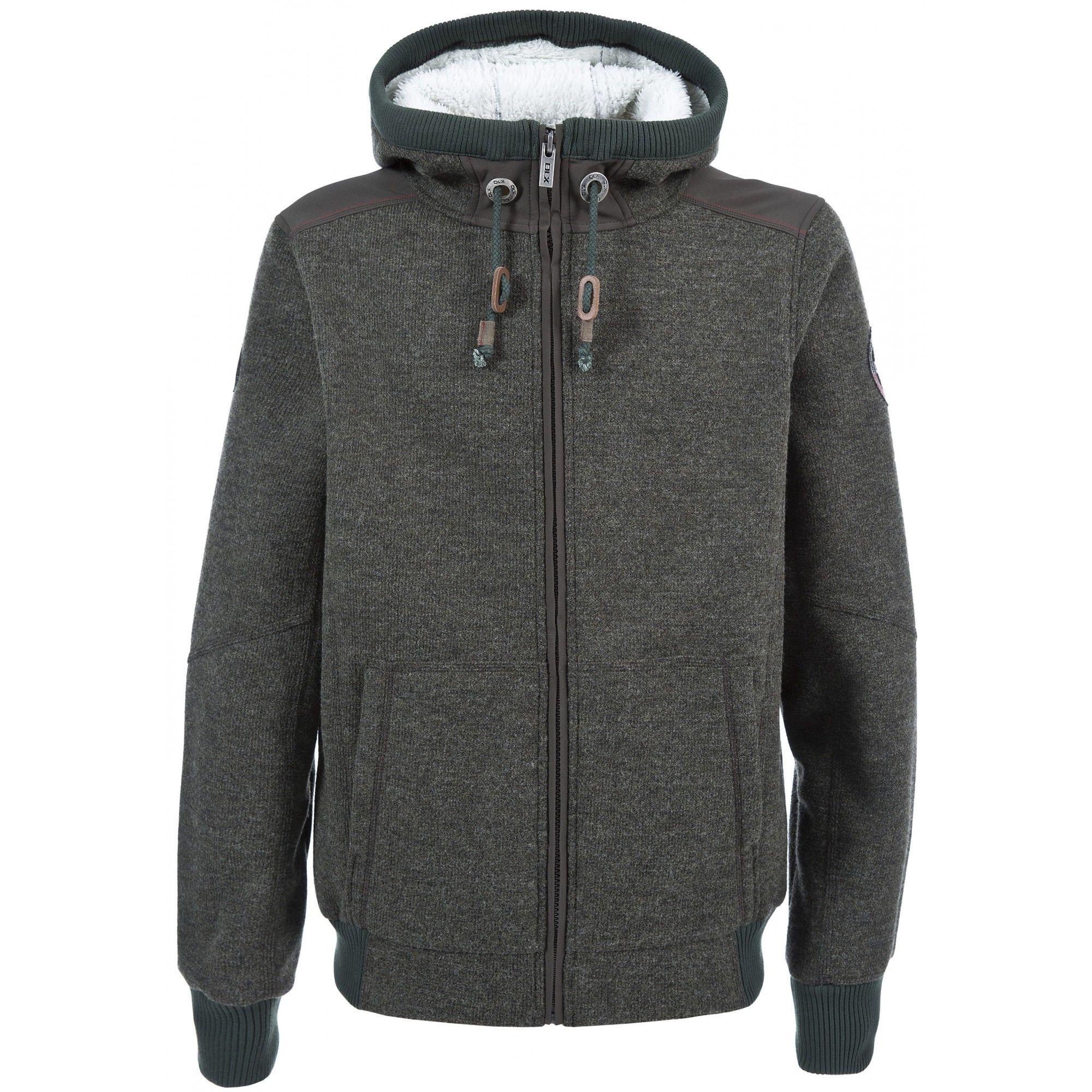 Trespass Mens Mathis Full Zip Knitted Fleece Jacket