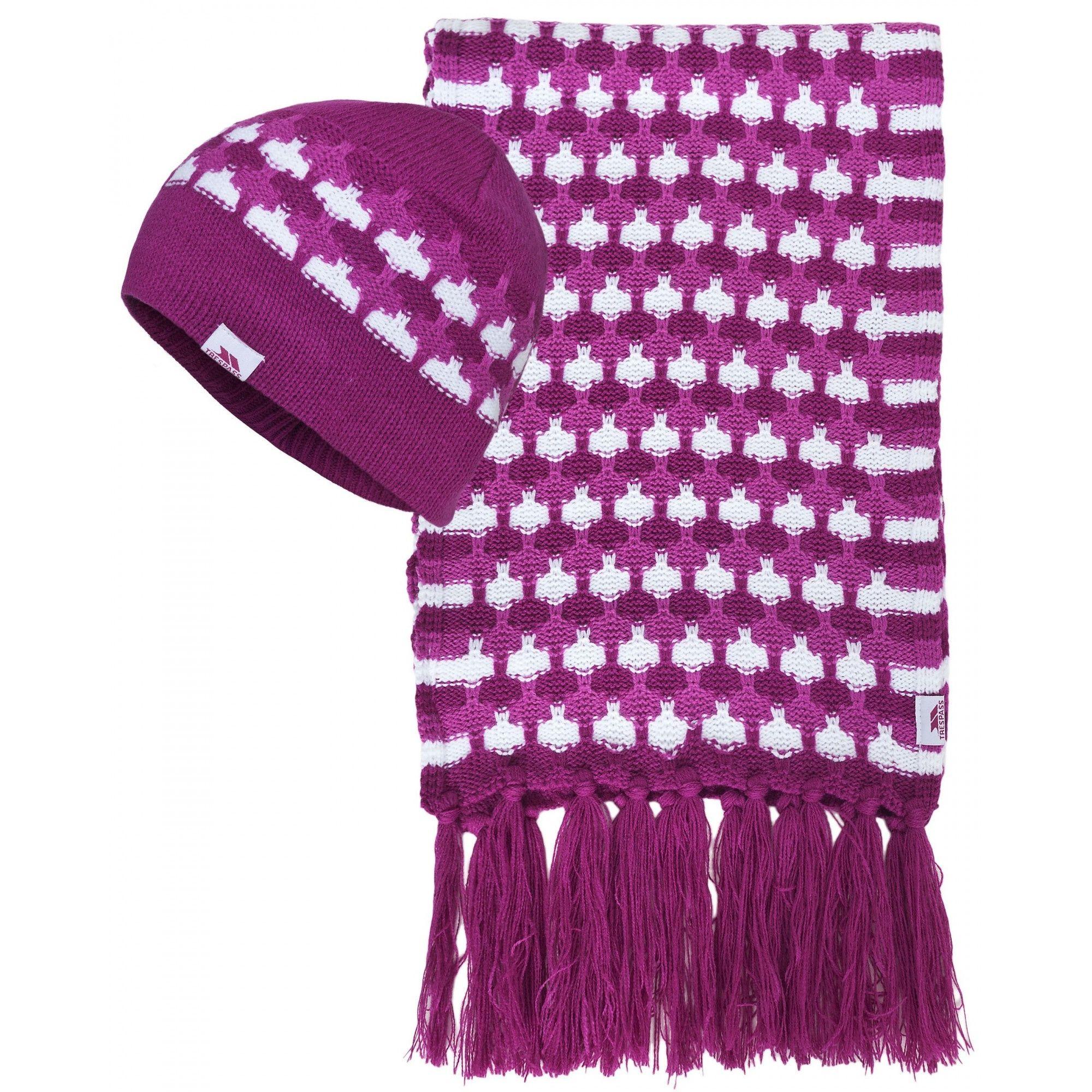 Trespass Womens/Ladies Bunty Winter Hat And Scarf Set