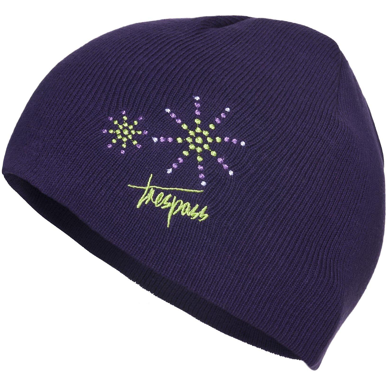 Trespass Childrens Girls Sparkle Knitted Beanie Hat