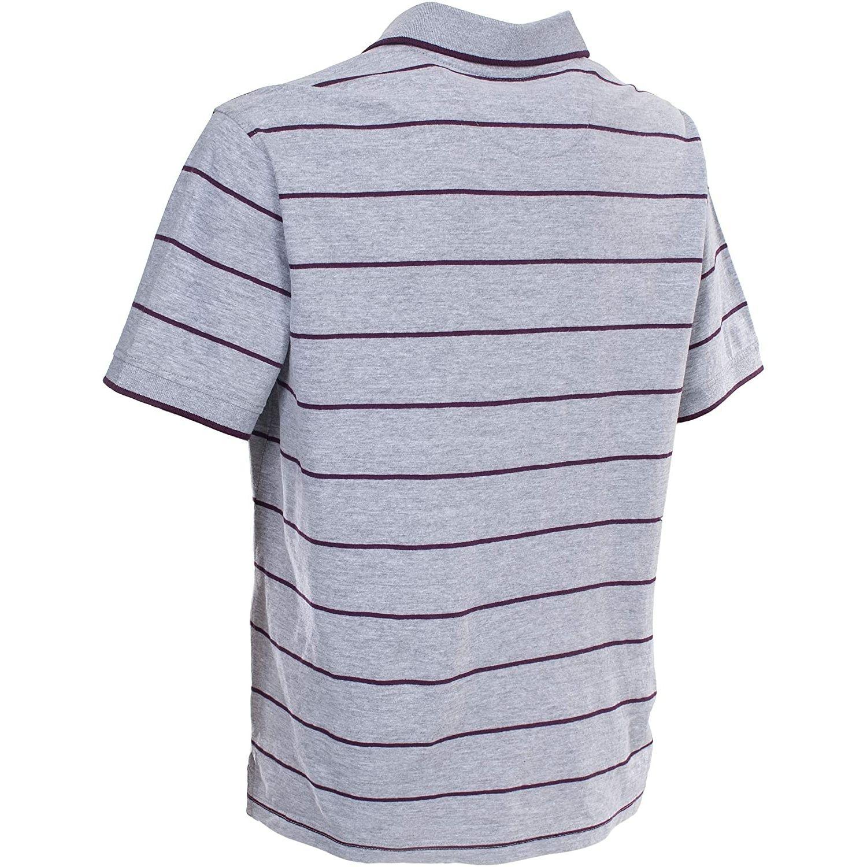 Trespass Mens Samani Short Sleeve Striped Polo Shirt