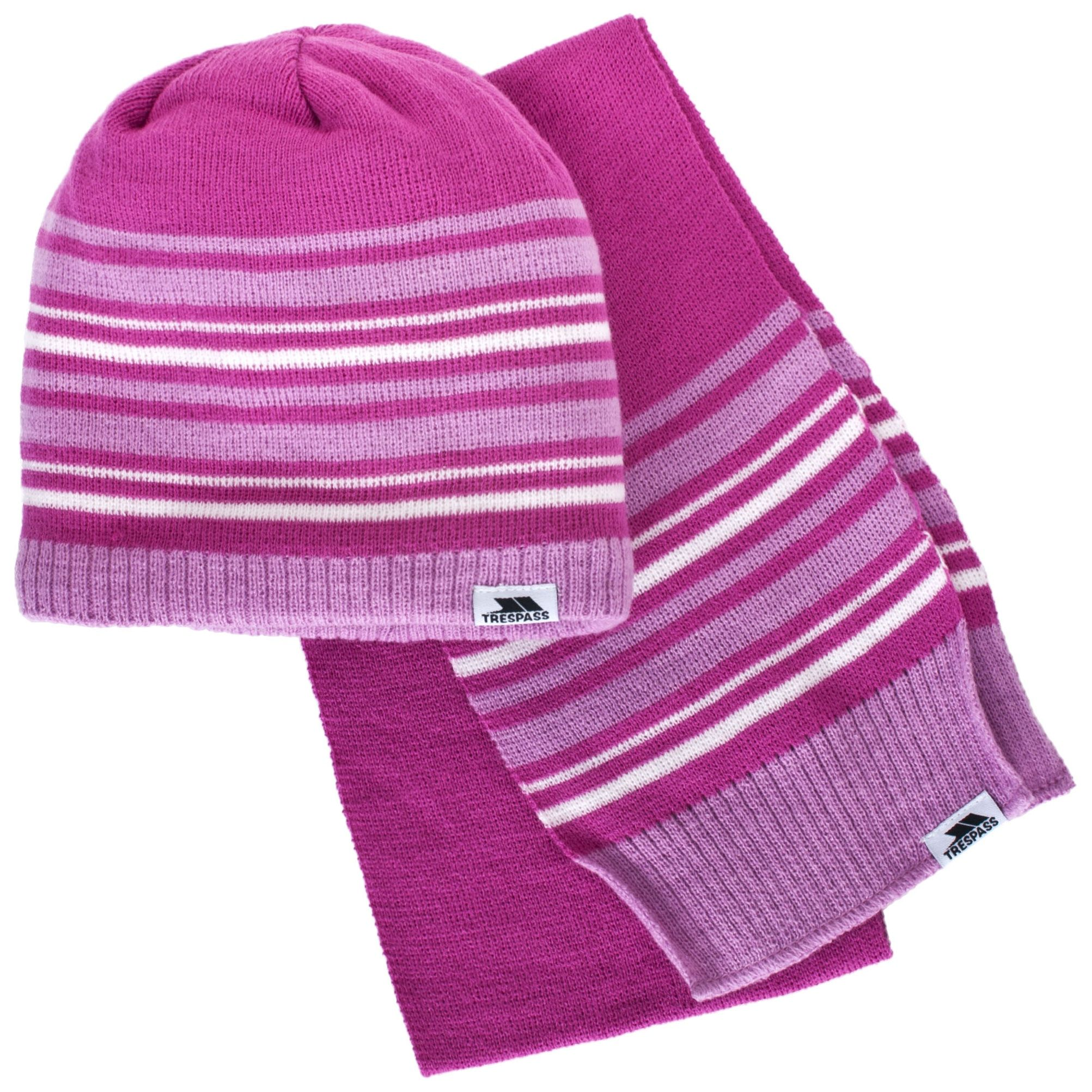 Trespass Childrens/Kids Hedgehog Winter Hat And Scarf Set