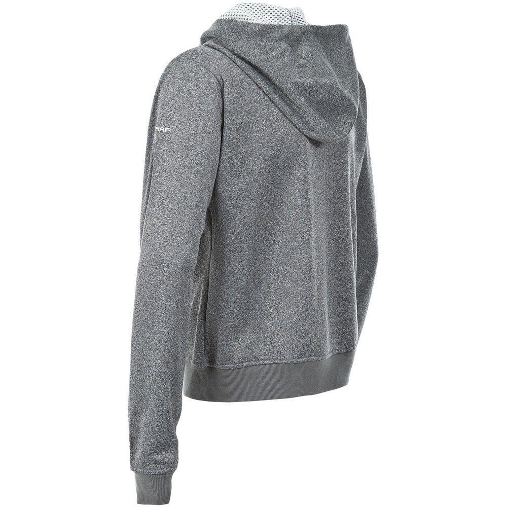 Trespass Womens/Ladies Revel Full Zip Up Hooded Fleece (Smoke Marl)