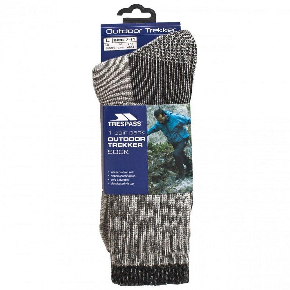 Trespass Mens Stroller Merino Wool Hiking Boot Socks (1 Pair)