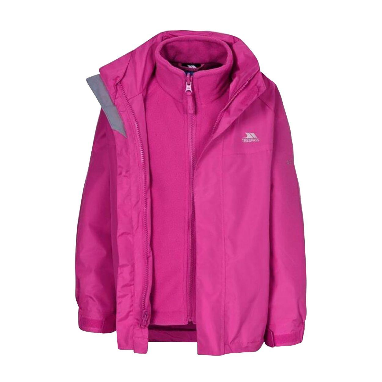 Trespass Girls Prime II Waterproof 3-In-1 Jacket