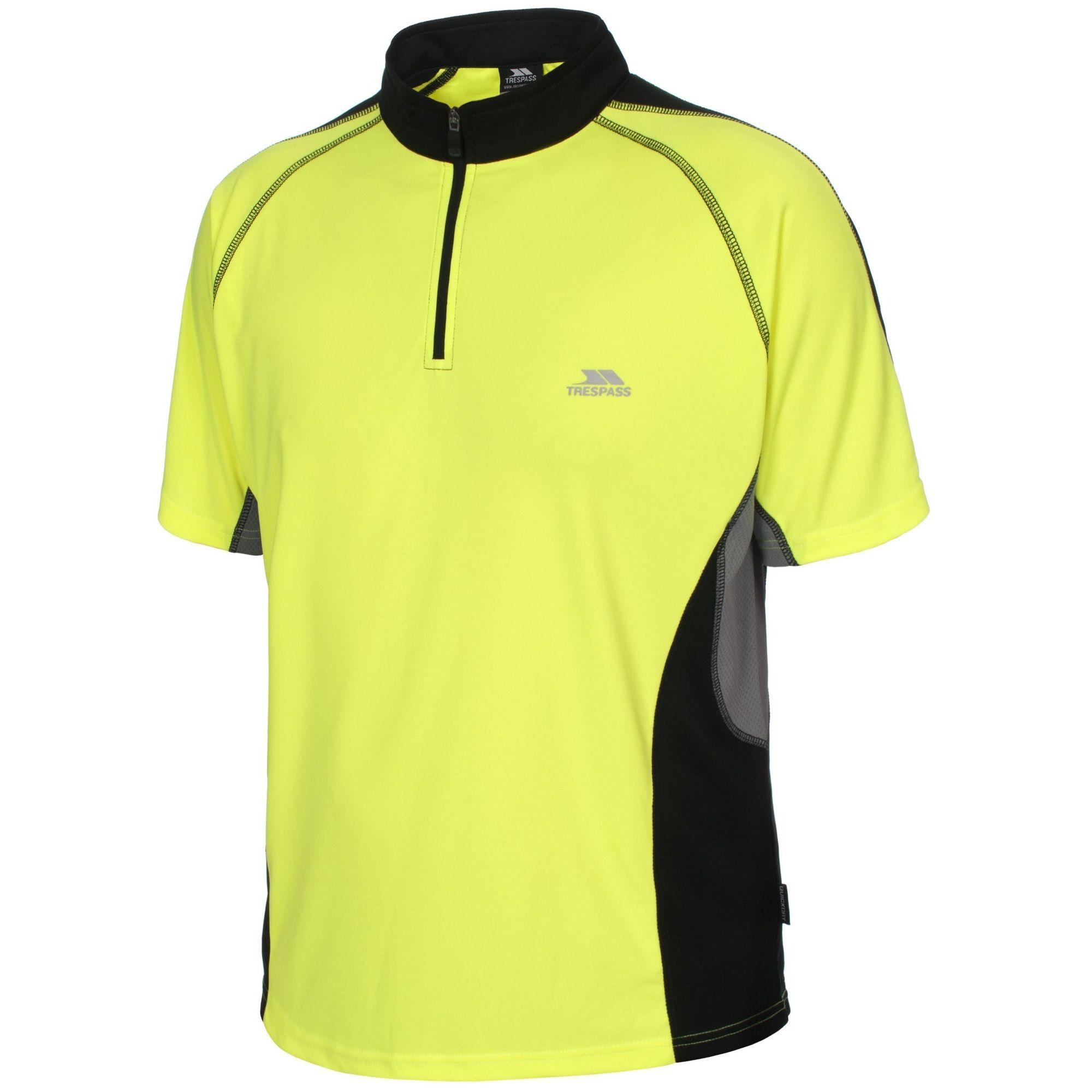 Trespass Mens Grenada Short Sleeve Zip Neck Athletic T-Shirt