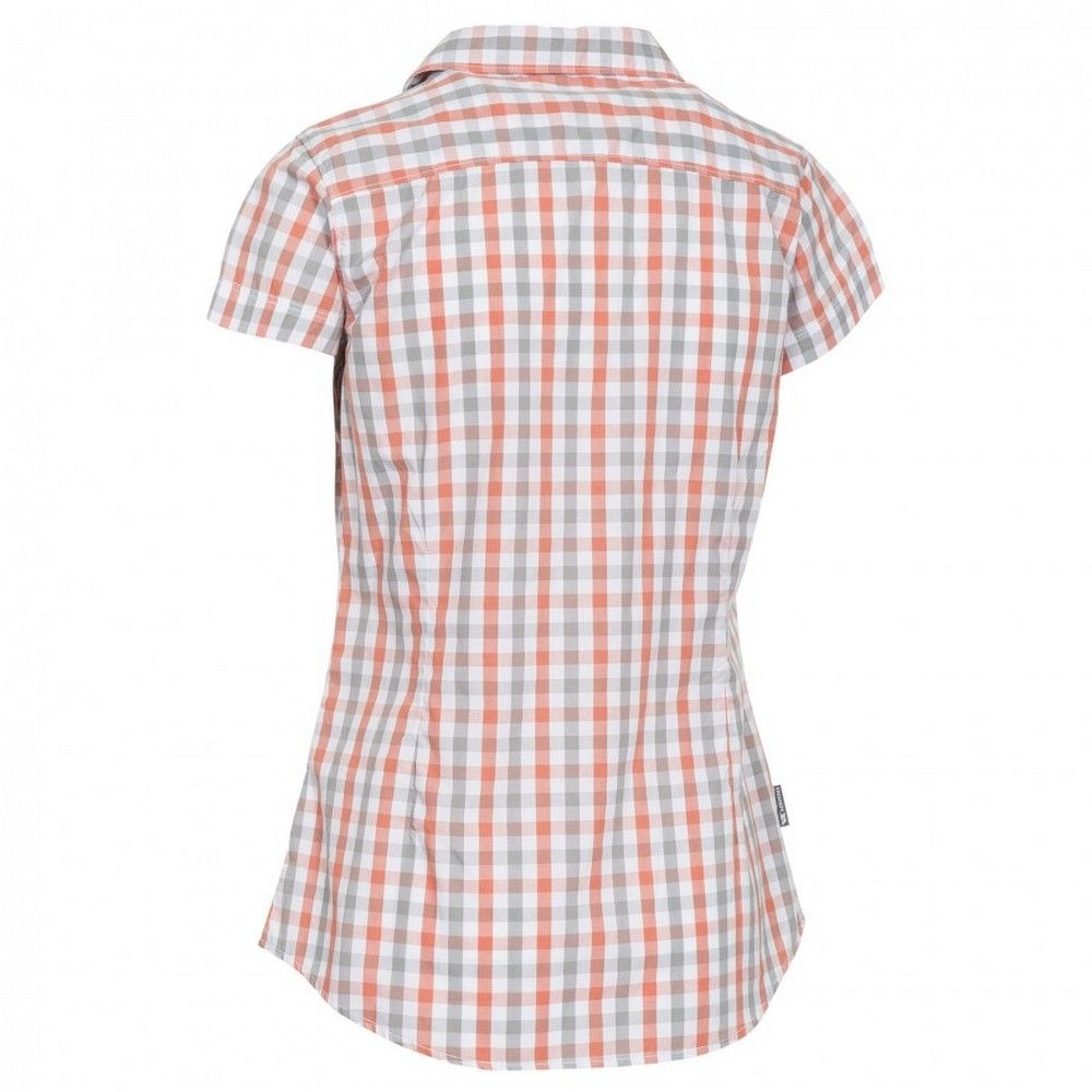 Trespass Womens/Ladies Tilley Short Sleeve Casual Checked Shirt