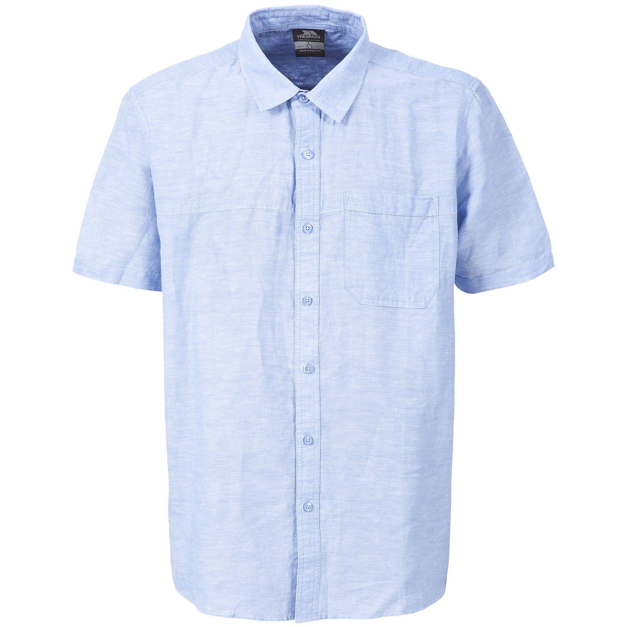 Trespass Mens Saratov Short Sleeve Casual Shirt
