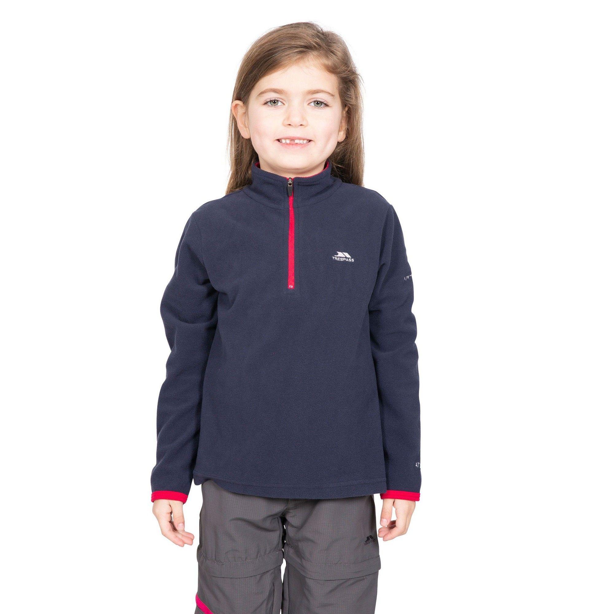 Trespass Childrens/Girls Sybil Micro Fleece (RASPBERRY)