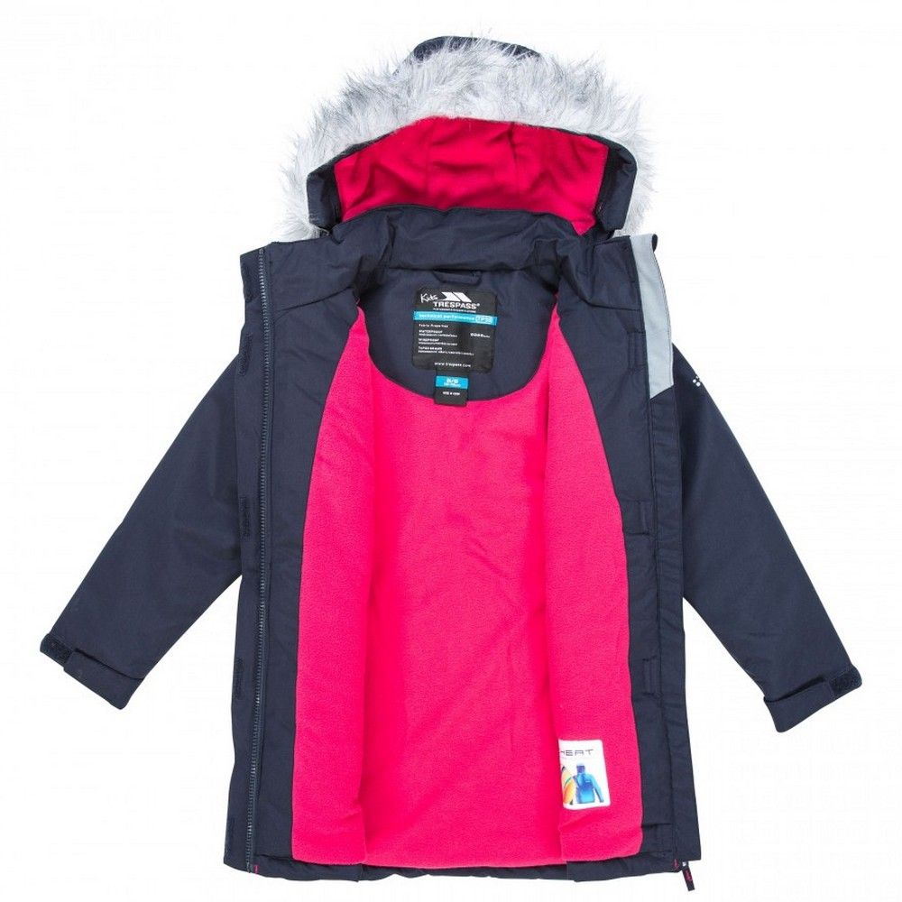 Trespass Childrens Girls Fame Waterproof Parka Jacket
