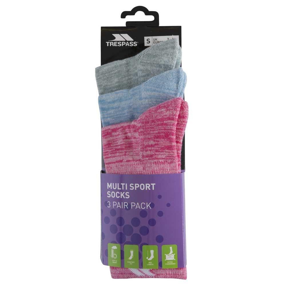 Trespass Womens/Ladies Helvellyn Trekking Socks (Pack Of 3)