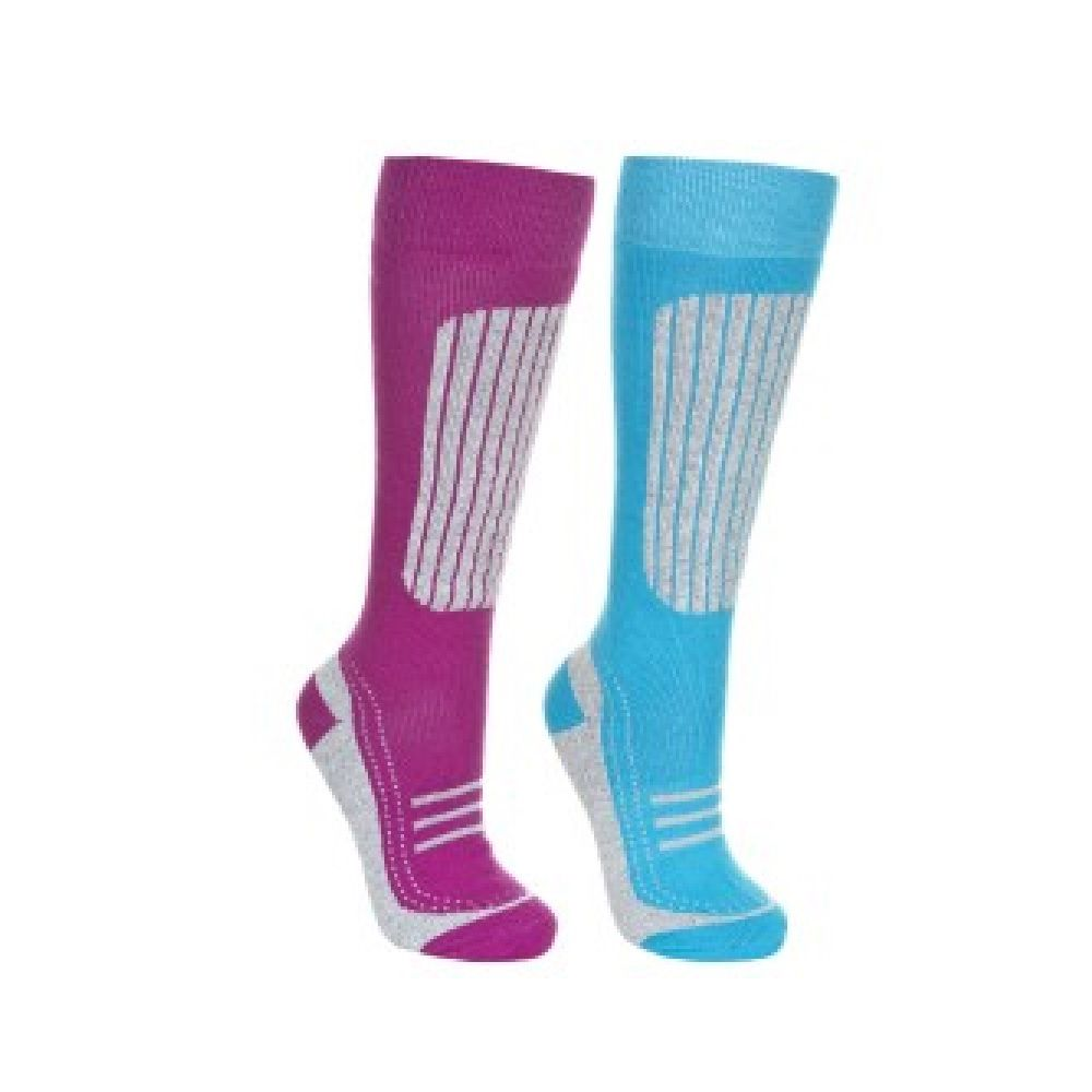 Trespass Womens/Ladies Janus II Ski Socks (Pack Of 2)