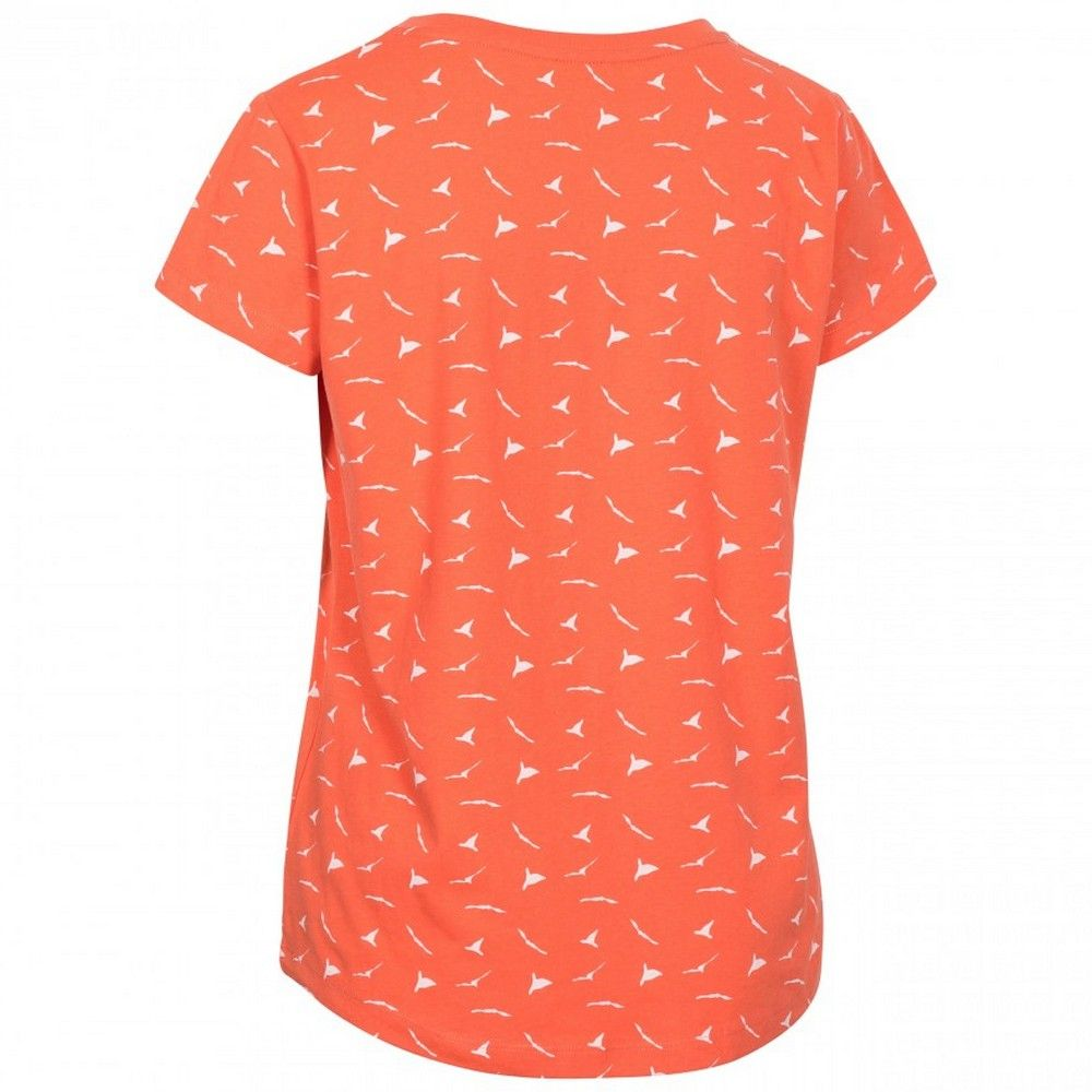 Trespass Womens Carolyn Short Sleeved Patterned T Shirt