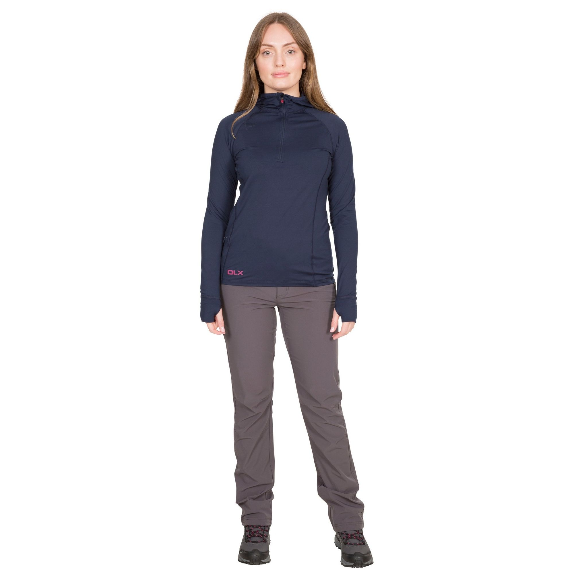 Trespass Womens/Ladies Rebecca Hooded 1/2 Zip Top