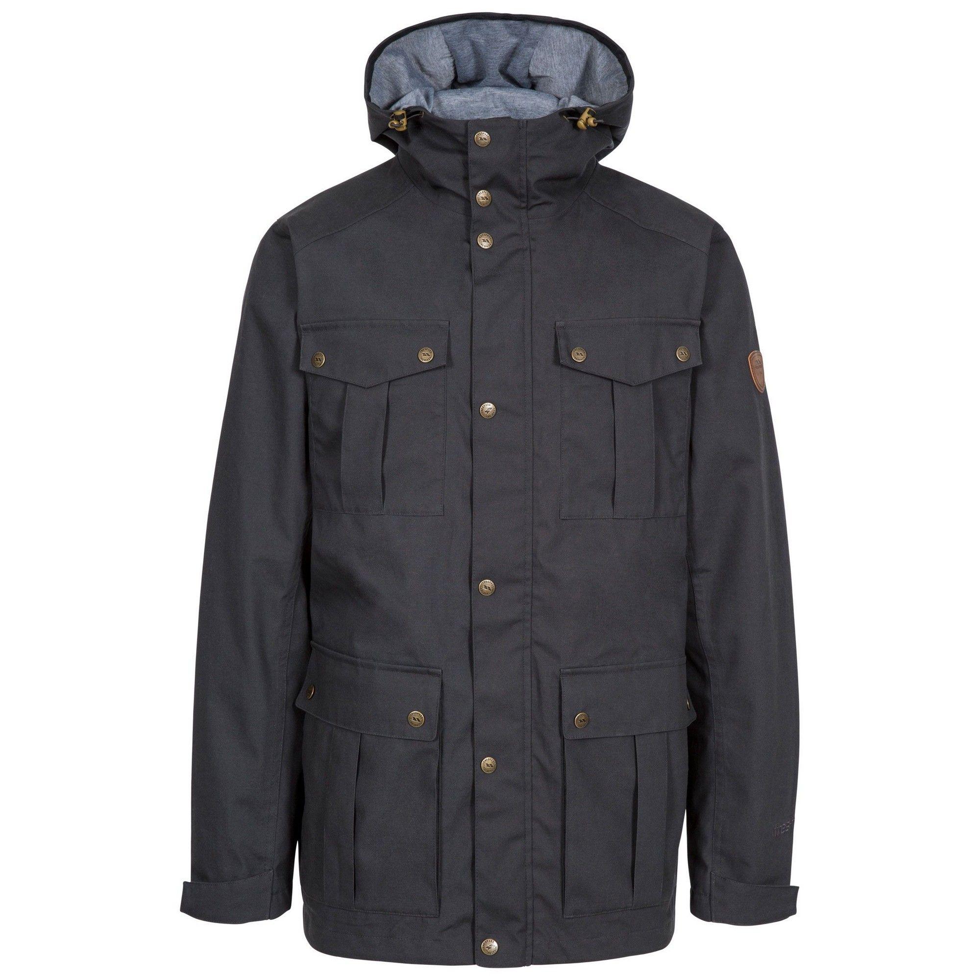 Trespass Mens Raharra Waterproof Jacket (Dark Grey)