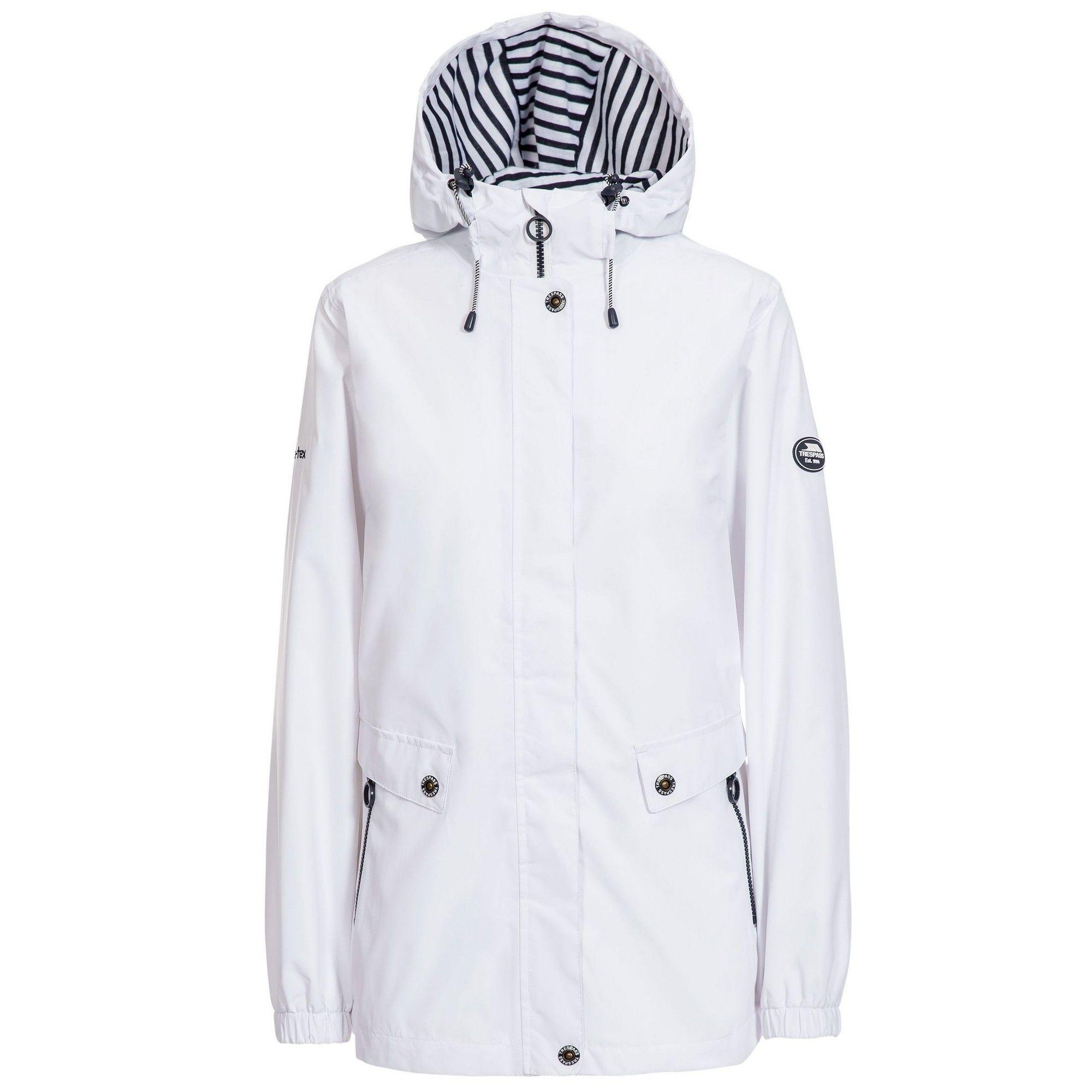 Trespass Womens/Ladies Flourish Waterproof Jacket (White)