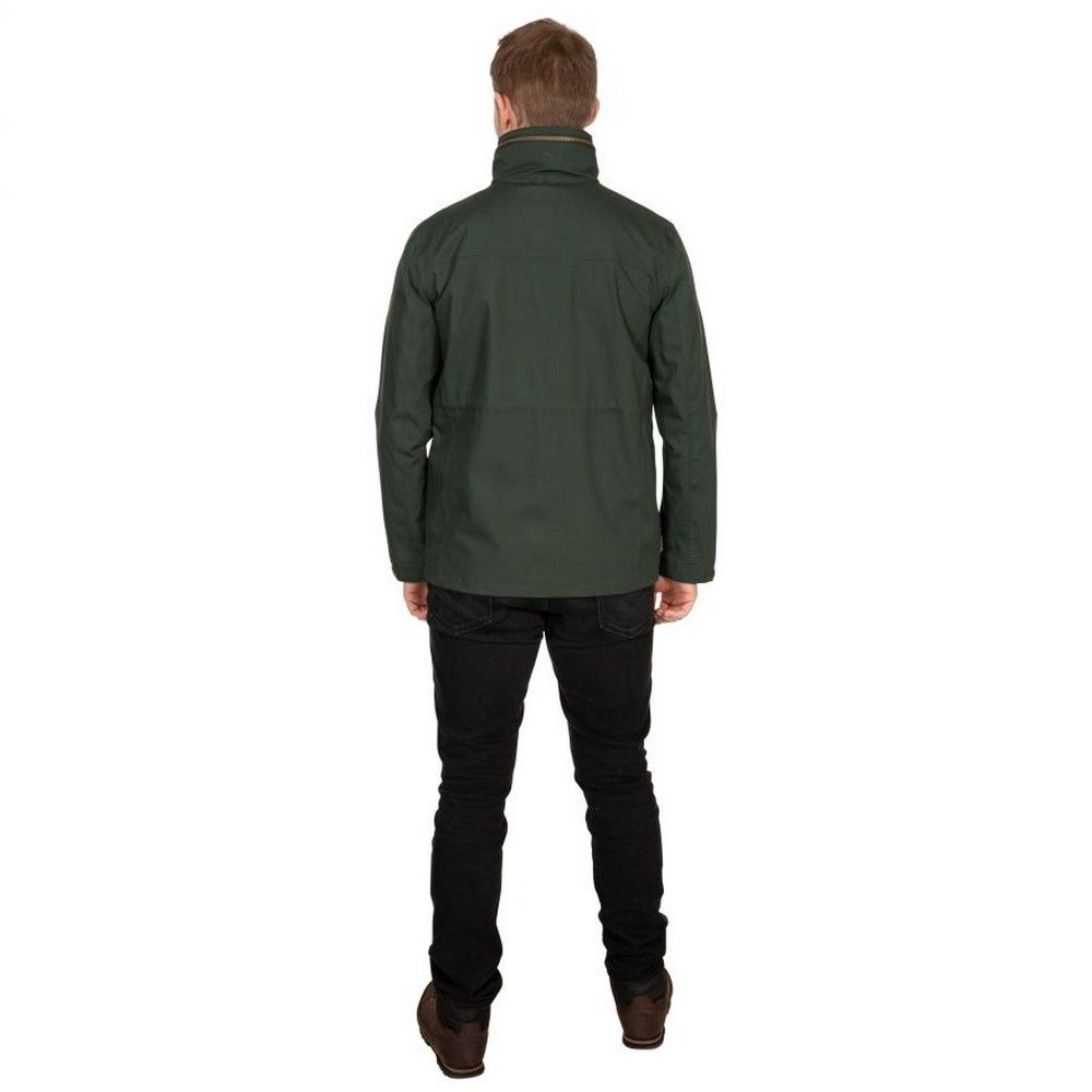 Trespass Mens Rainthan Waterproof Jacket (Olive)