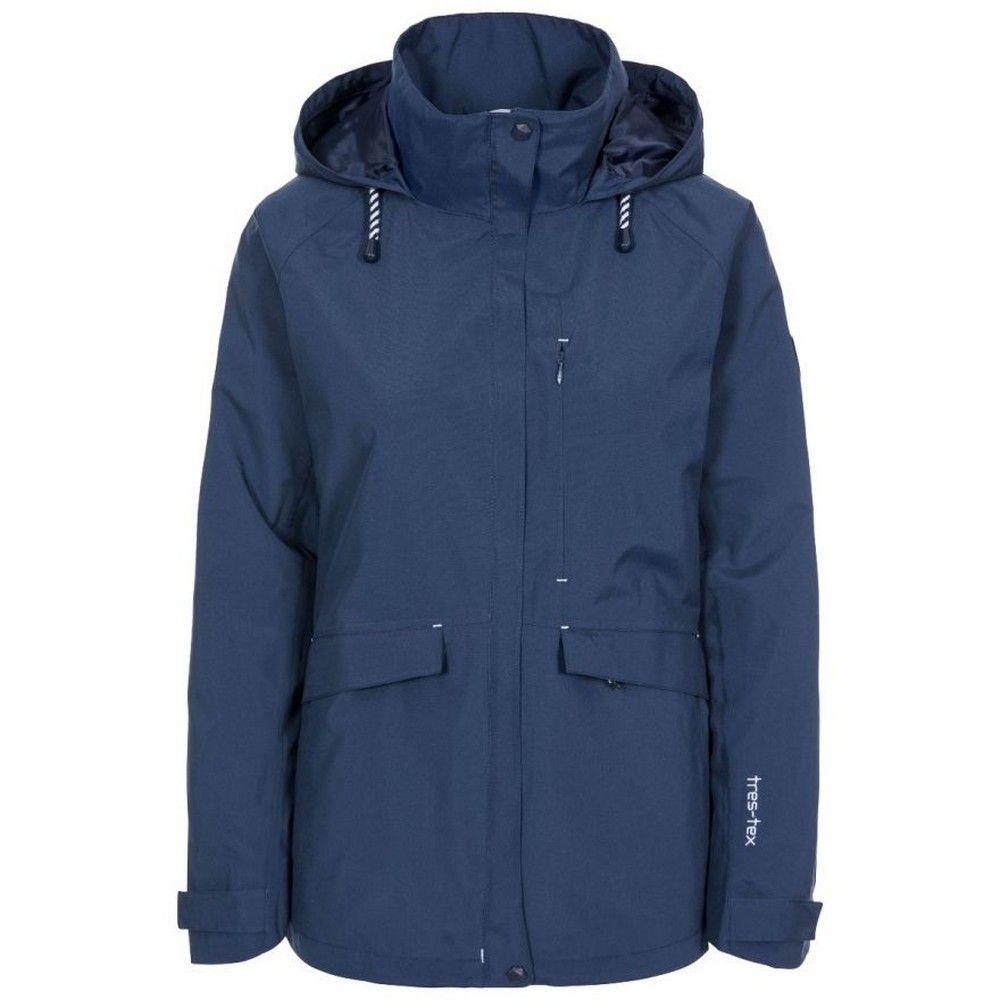 Trespass Womens/Ladies Voyage Waterproof Long-Sleeved Jacket (Navy)