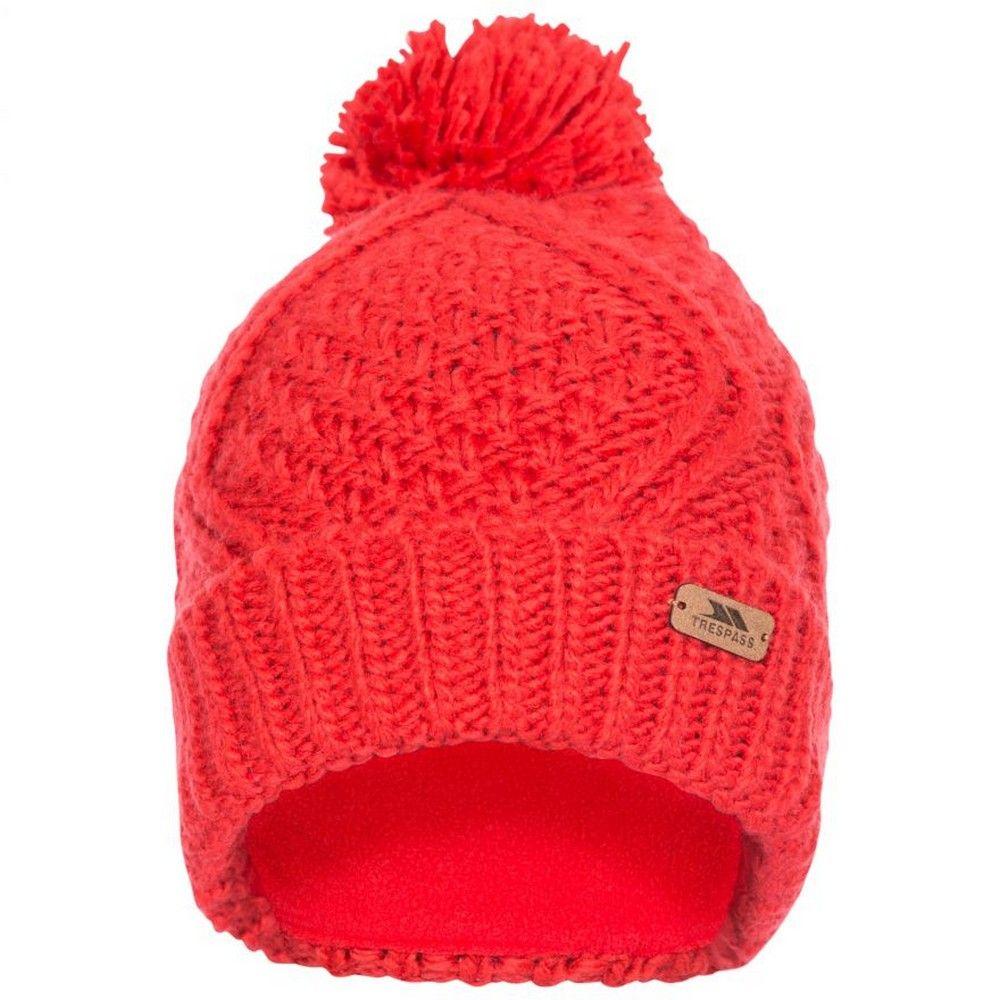 Trespass Womens/Ladies Zyra Knitted Beanie (Hibiscus Red)