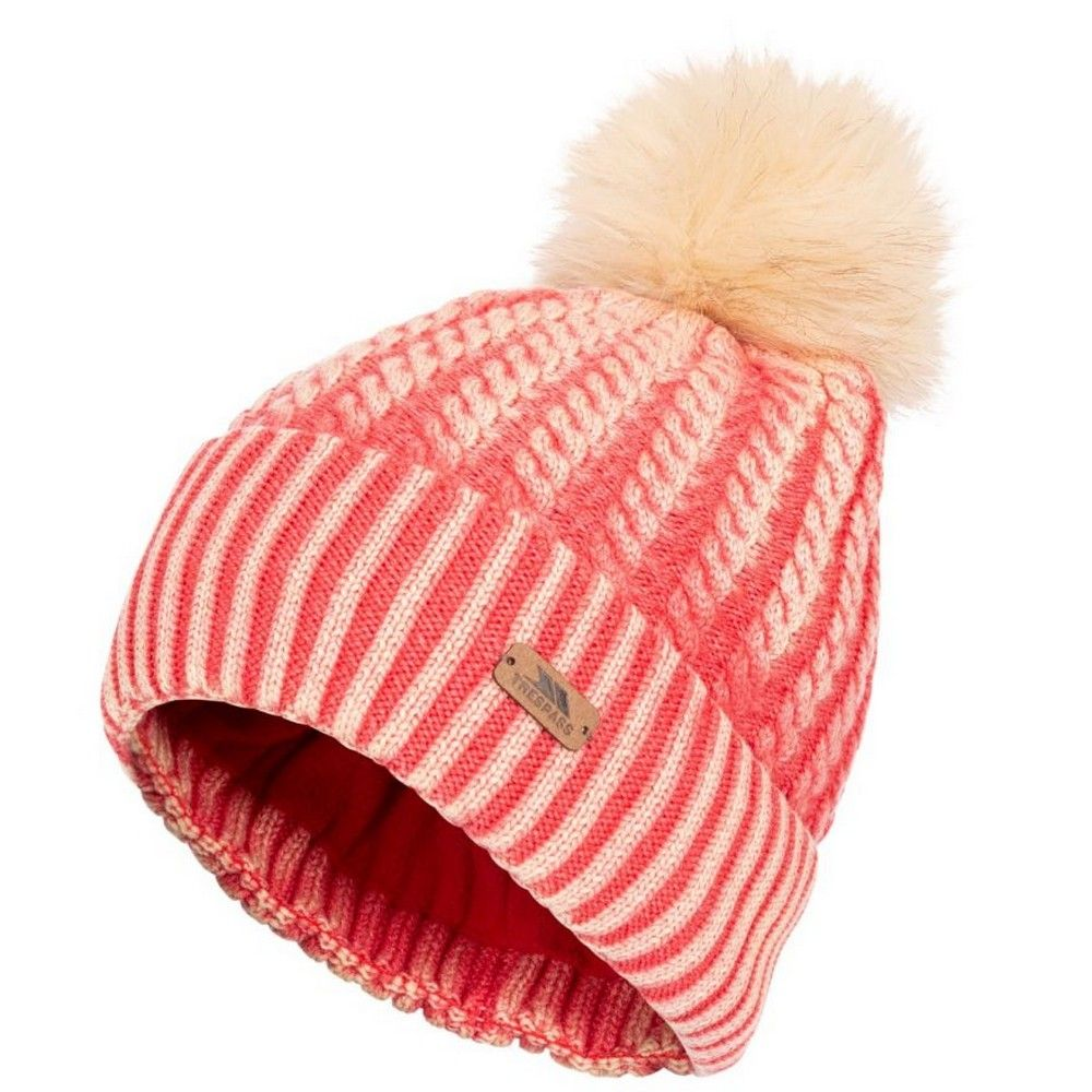 Trespass Womens/Ladies Faded Knitted Hat (Hibiscus Red)