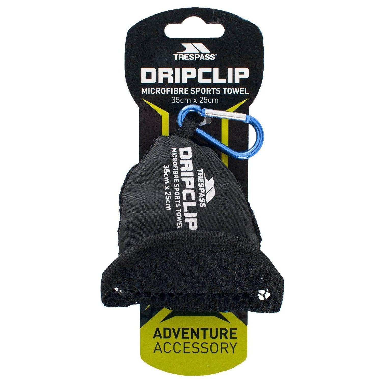 Trespass Dripclip Microfibre Towel Keyring With Carabiner Clip