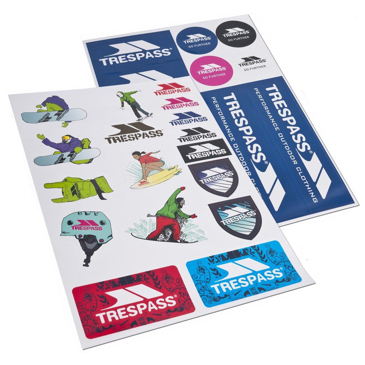 Trespass Die Cut Sticker Kit