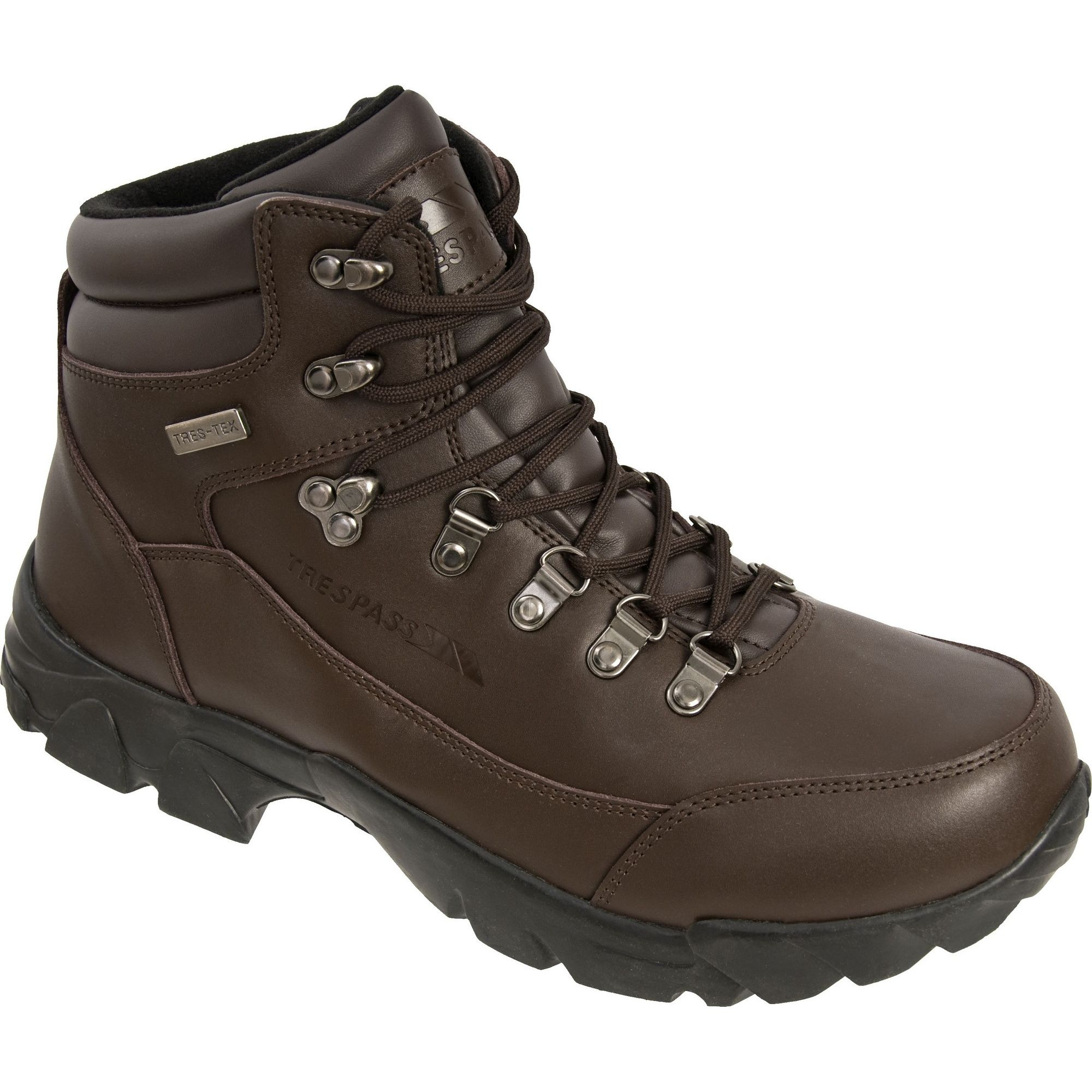 Trespass Mens Bergenz Waterproof Walking Boots (Brown)