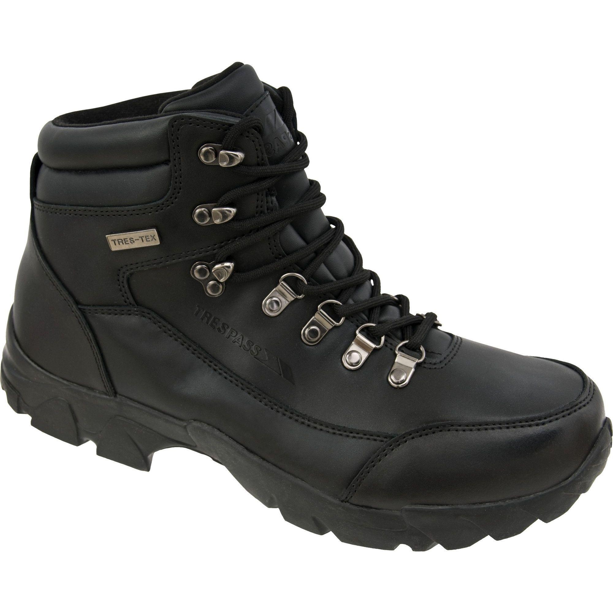 Trespass Mens Bergenz Waterproof Walking Boots (Black)