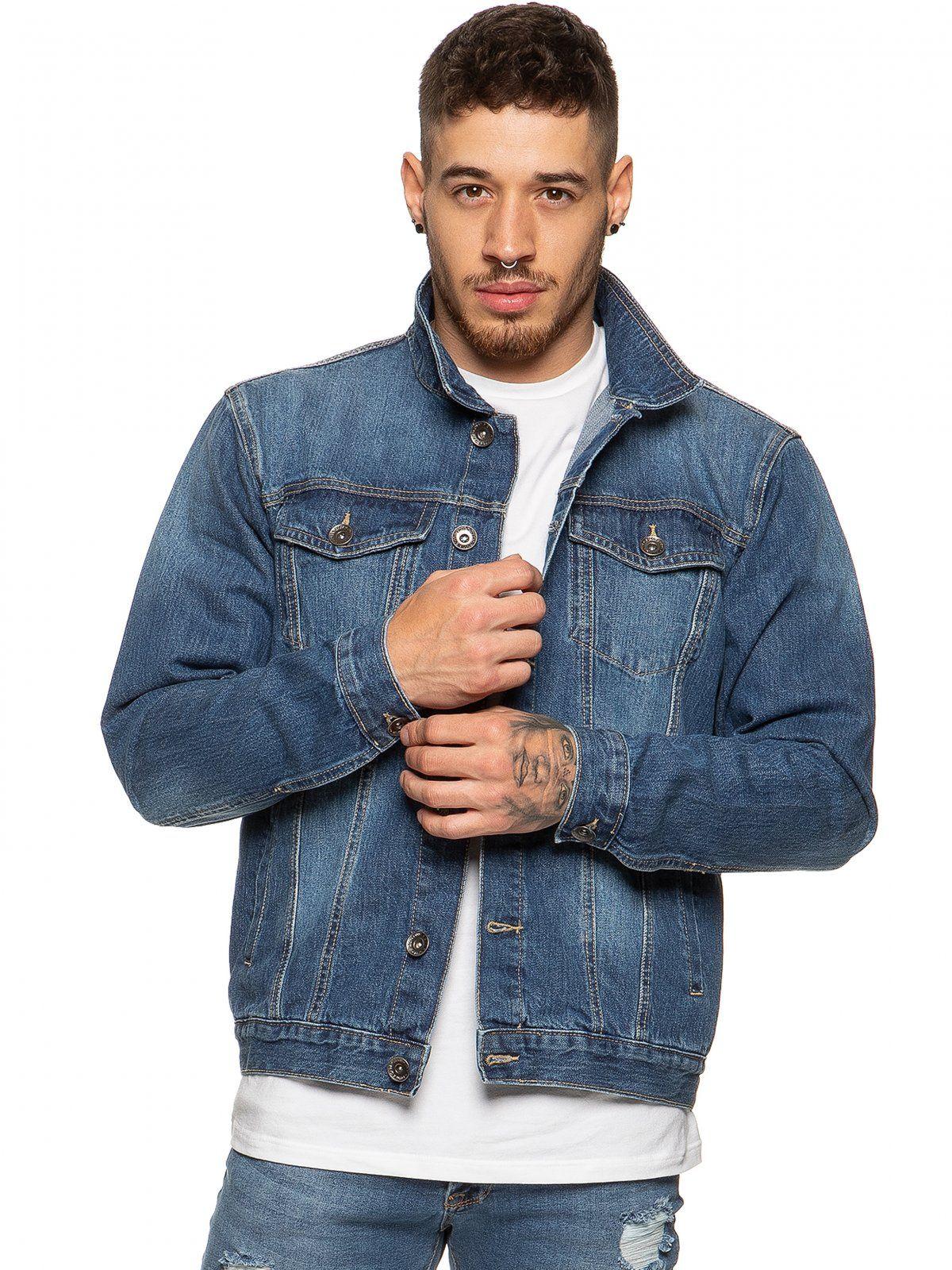 Mens Enzo Denim Designer Jacket - MSW | Enzo Designer Menswear