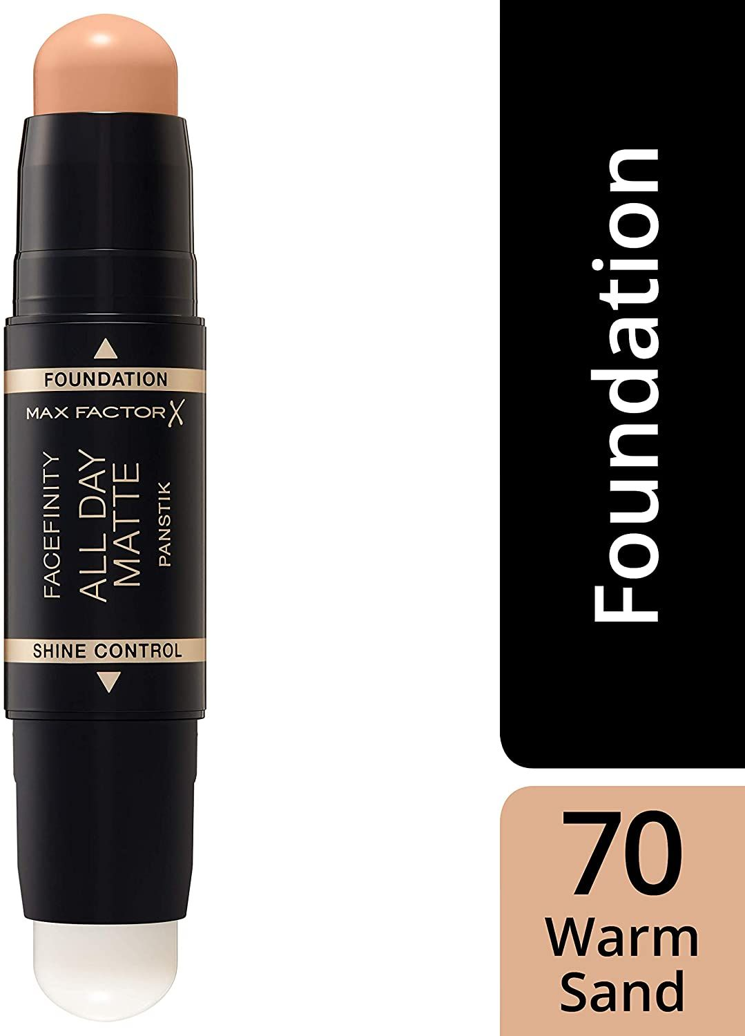 2x Max Factor Facefinity All Day Matte 2in1 PanStik Foundation 70 Warm Sand