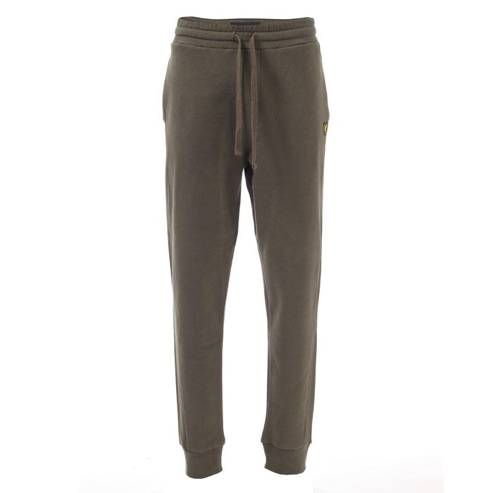 Men's Lyle And Scott Side Panel Trackpants in Green