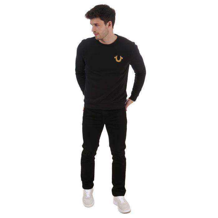 True Religion Men's Horseshoe Logo Sweatshirt in Black