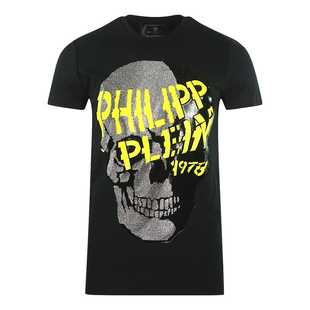 Philipp Plein Large Graffiti Skull Black T-Shirt