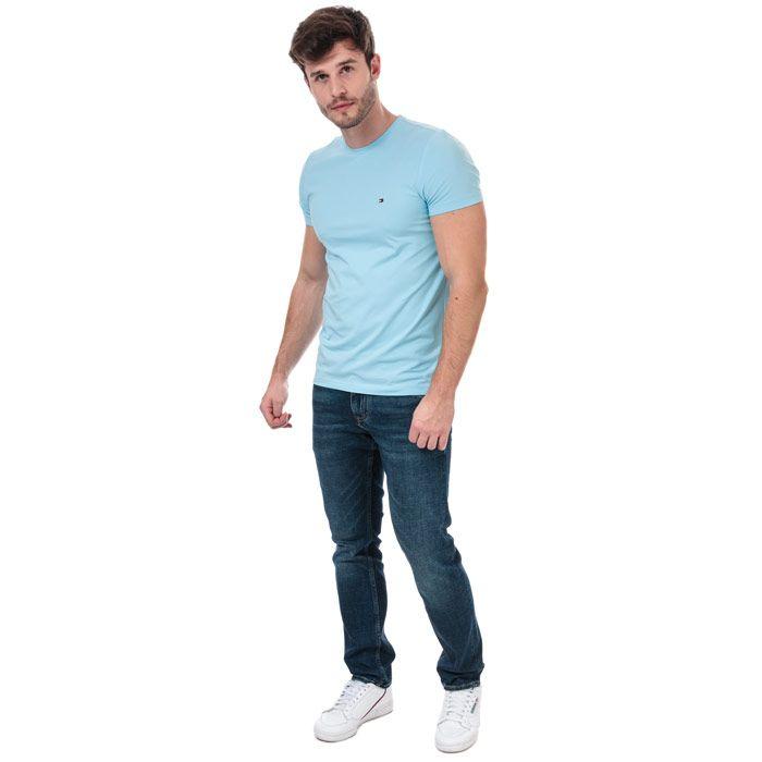 Men's Tommy Hilfiger Stretch Slim Fit T-Shirt in Blue