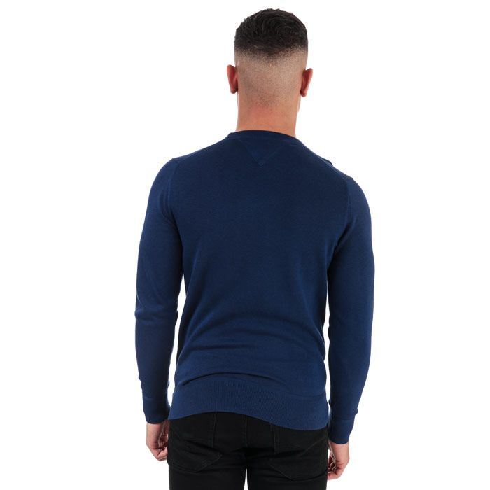 Men's Tommy Hilfiger Organic Cotton Jumper in Blue