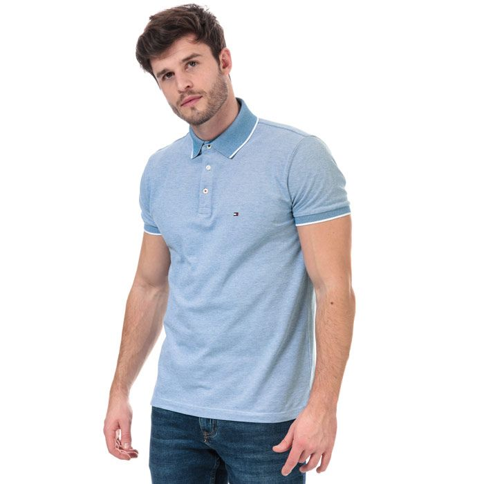 Men's Tommy Hilfiger Cool Oxford Polo Shirt in Blue