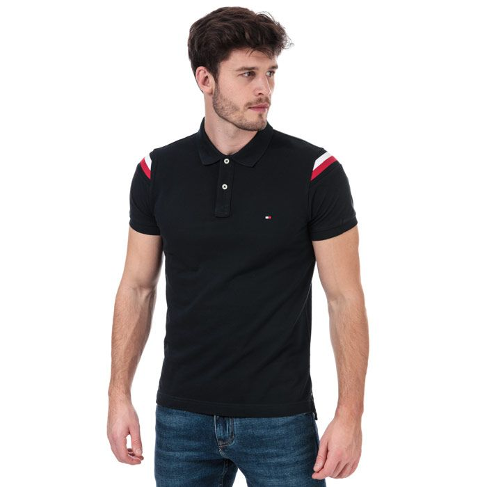 Men's Tommy Hilfiger GS Insert Polo Shirt in Navy