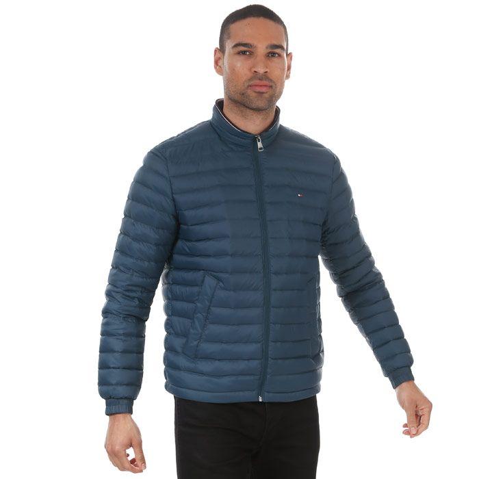 Tommy Hilfiger Men's Packable Down Jacket in Blue