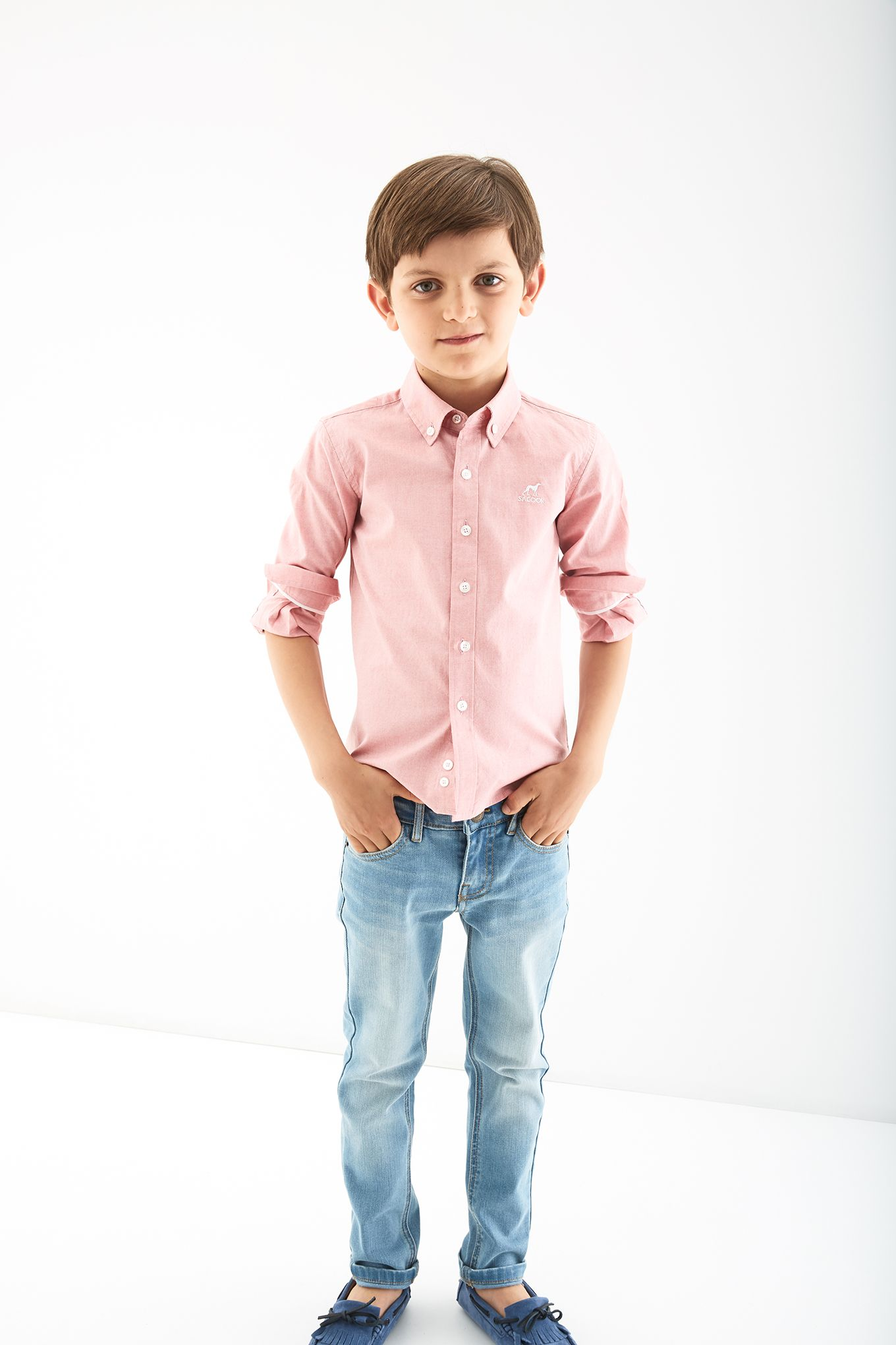 Boys Plain Cotton Sports Shirt