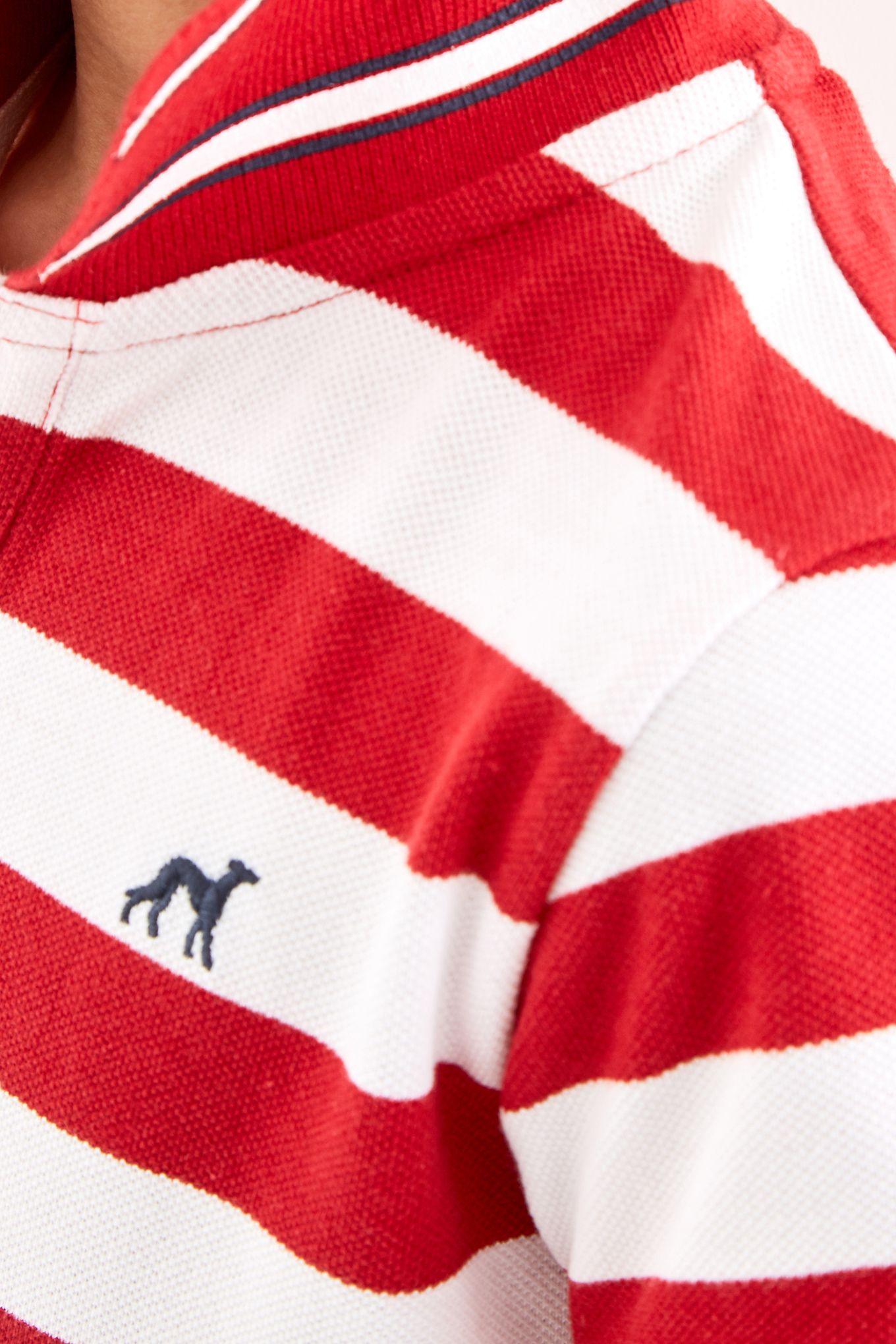 Boys  Striped College League Piquet Polo