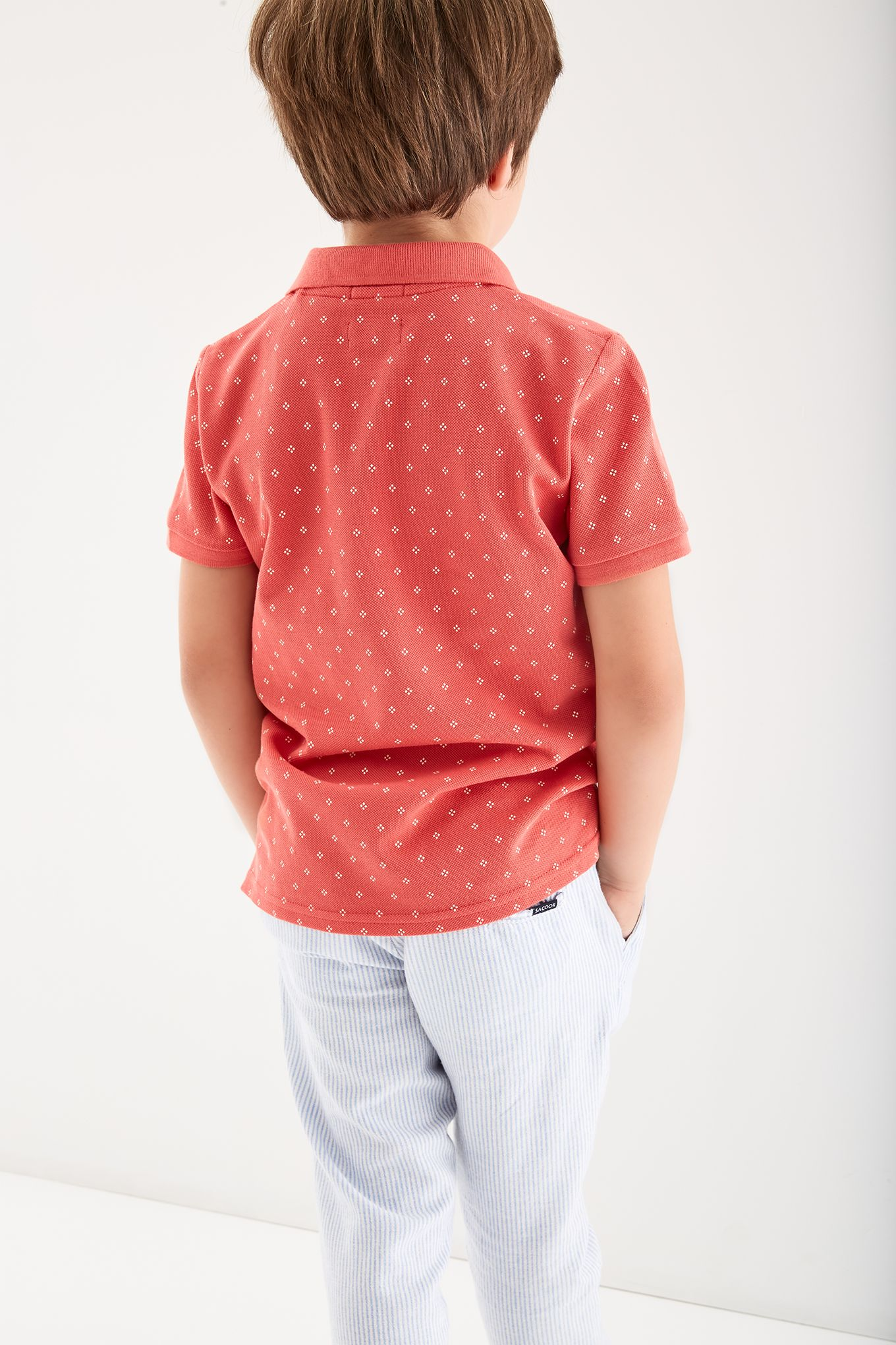 Boys  Patterned Piquet Polo