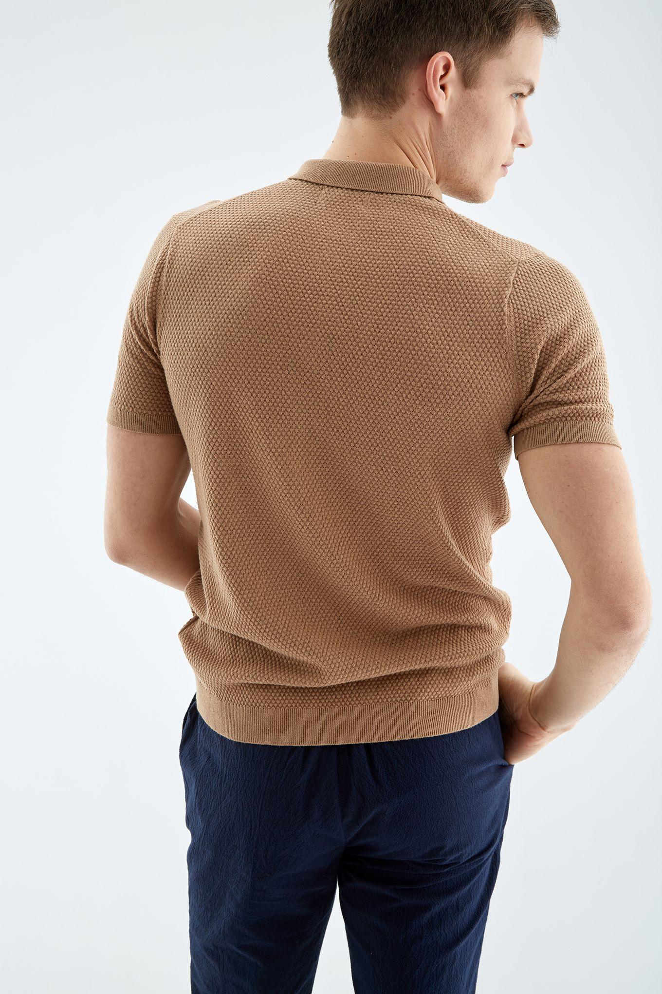 Men s Textured Polo Shirt