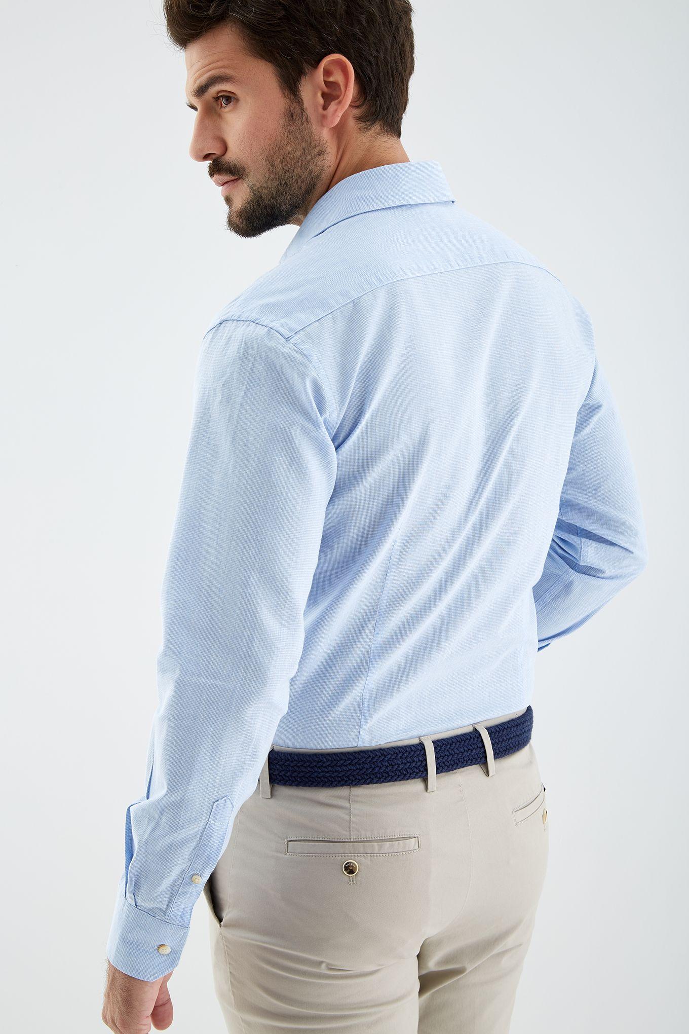 Men s Check Slim Fit Sports Shirt