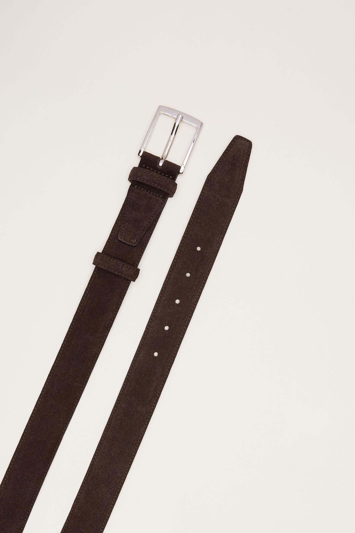 Mens Suede Leather Belt